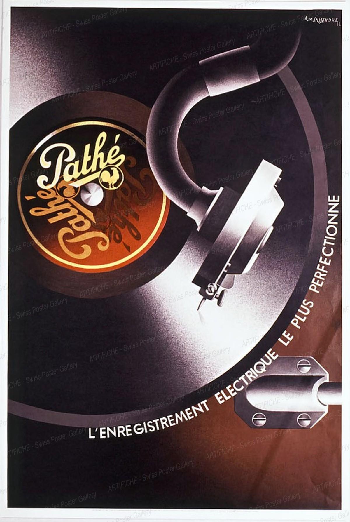 Pathé – l'enrégistrement électrique le plus perfectionné (Reprint 1981), Cassandre (Adolphe Mouron)