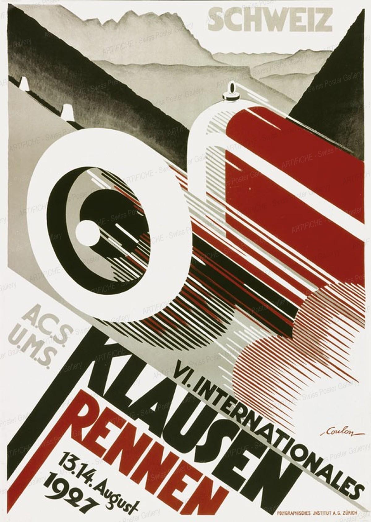 VI. Internationales Klausen-Rennen 1927 (Reprint), Eric de Coulon