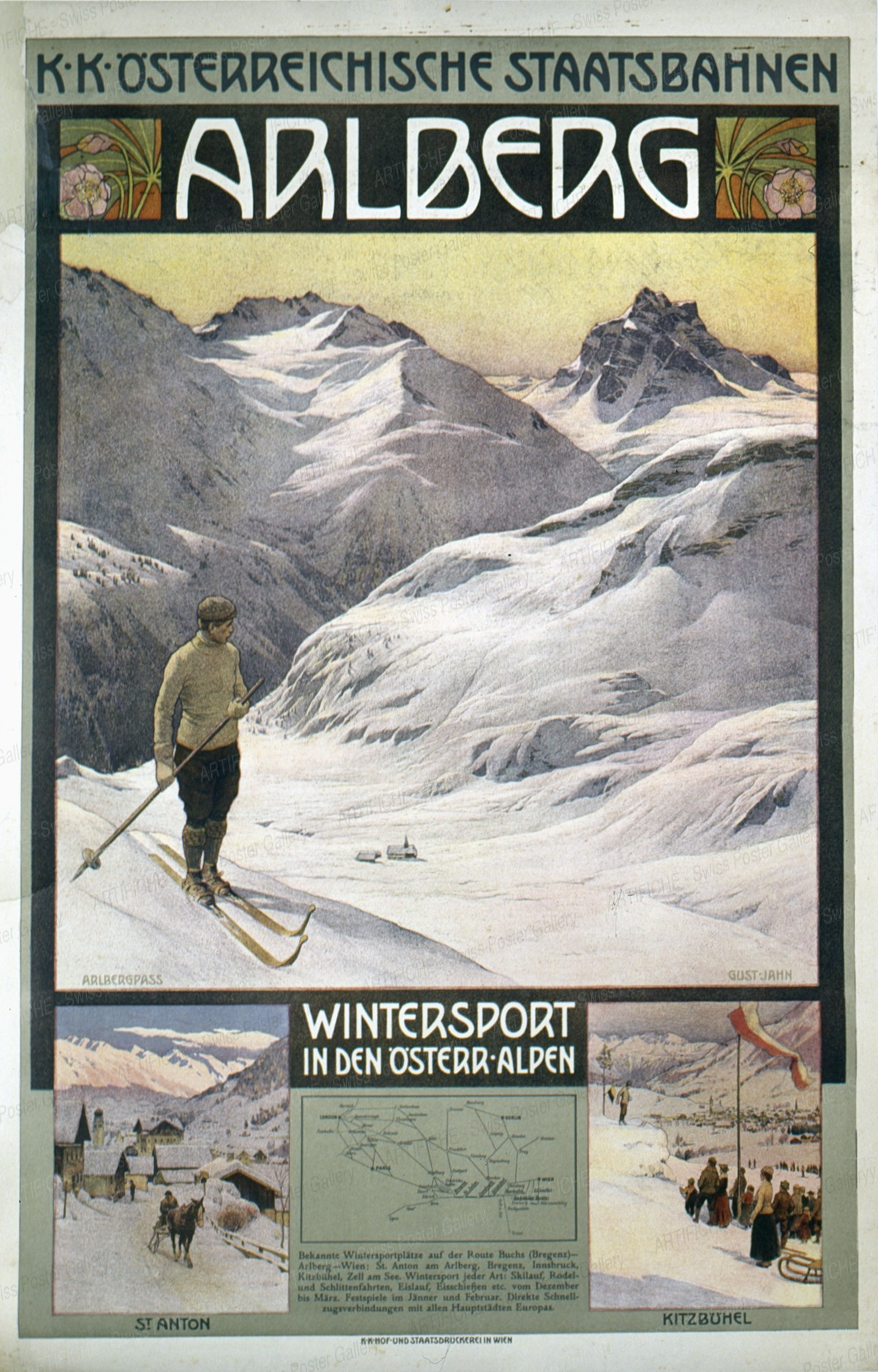 Arlberg – Wintersport in den üsterreichischen Alpen, Gustav Jahn