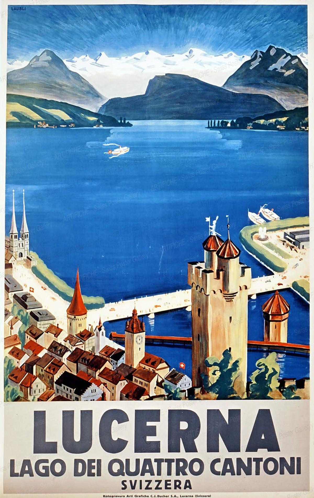 LUCERNA – Lago dei quattro cantoni – Svizzera, Otto Landolt