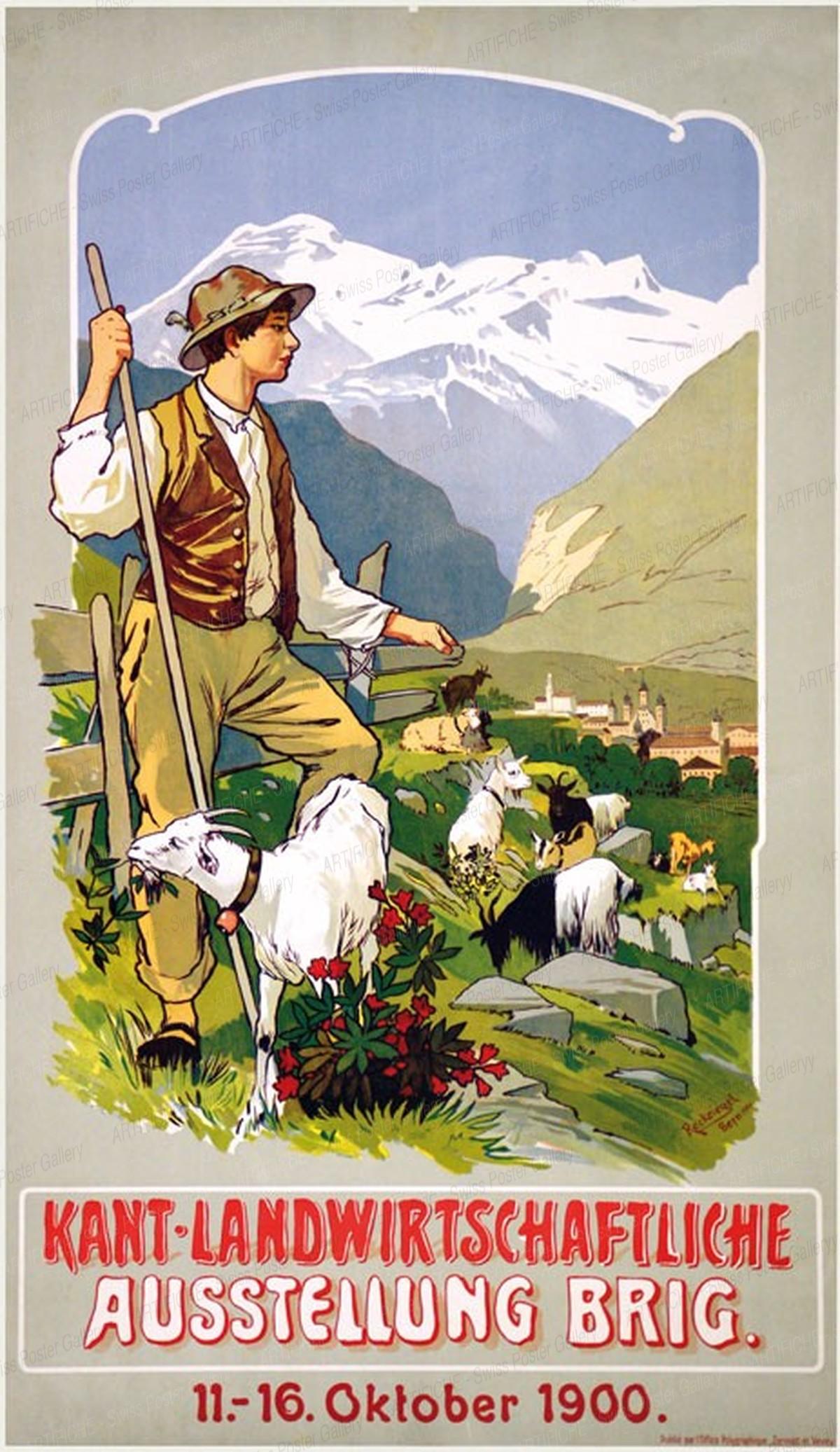 Kant. Landwirtschaftliche Ausstellung Brig, Anton Reckziegel