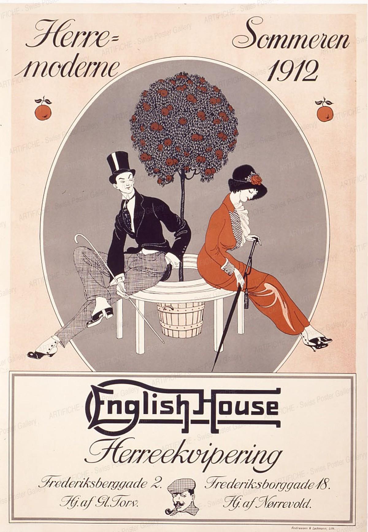 English House – Men's Fashion, Artist unknown