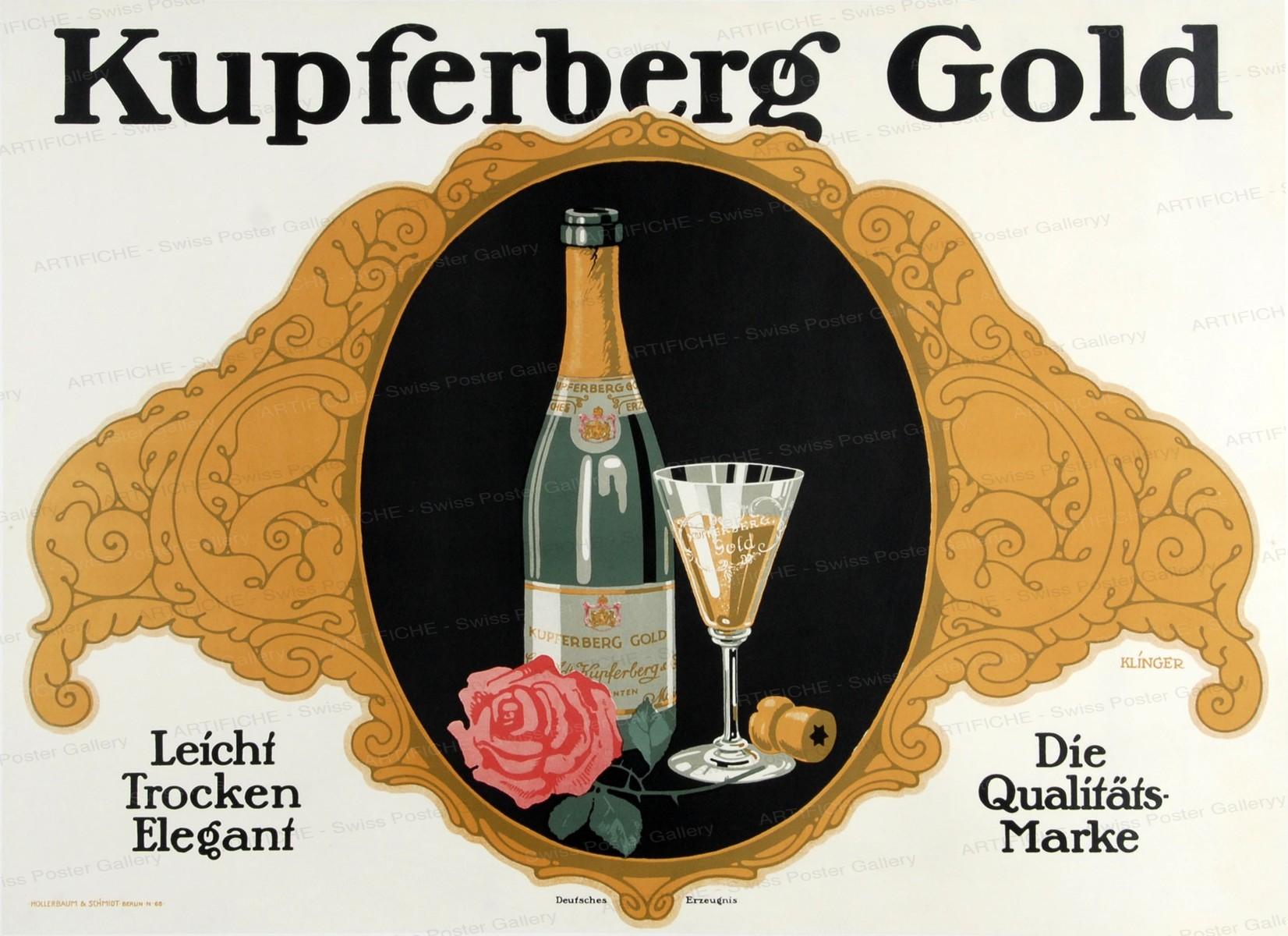 Kupferberg Gold – Leicht Trocken Elegant – Die Qualitätsmarke, Julius Klingler