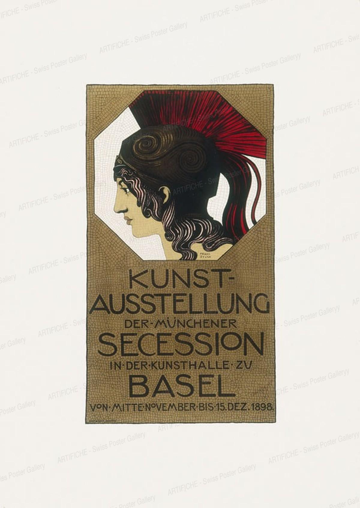 KUNSTAUSSTELLUNG DER MÜNCHNER SECESSION – in der Kunsthalle Basel 1898, Stuck, von, Franz