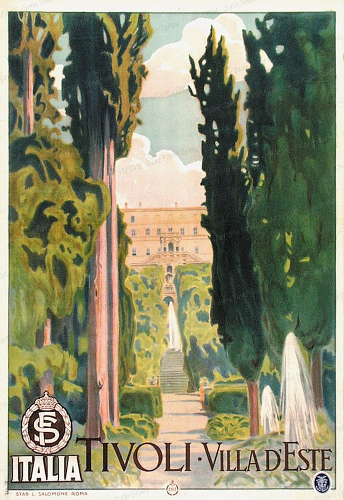Tivoli – Villa d'Este, Artist unknown