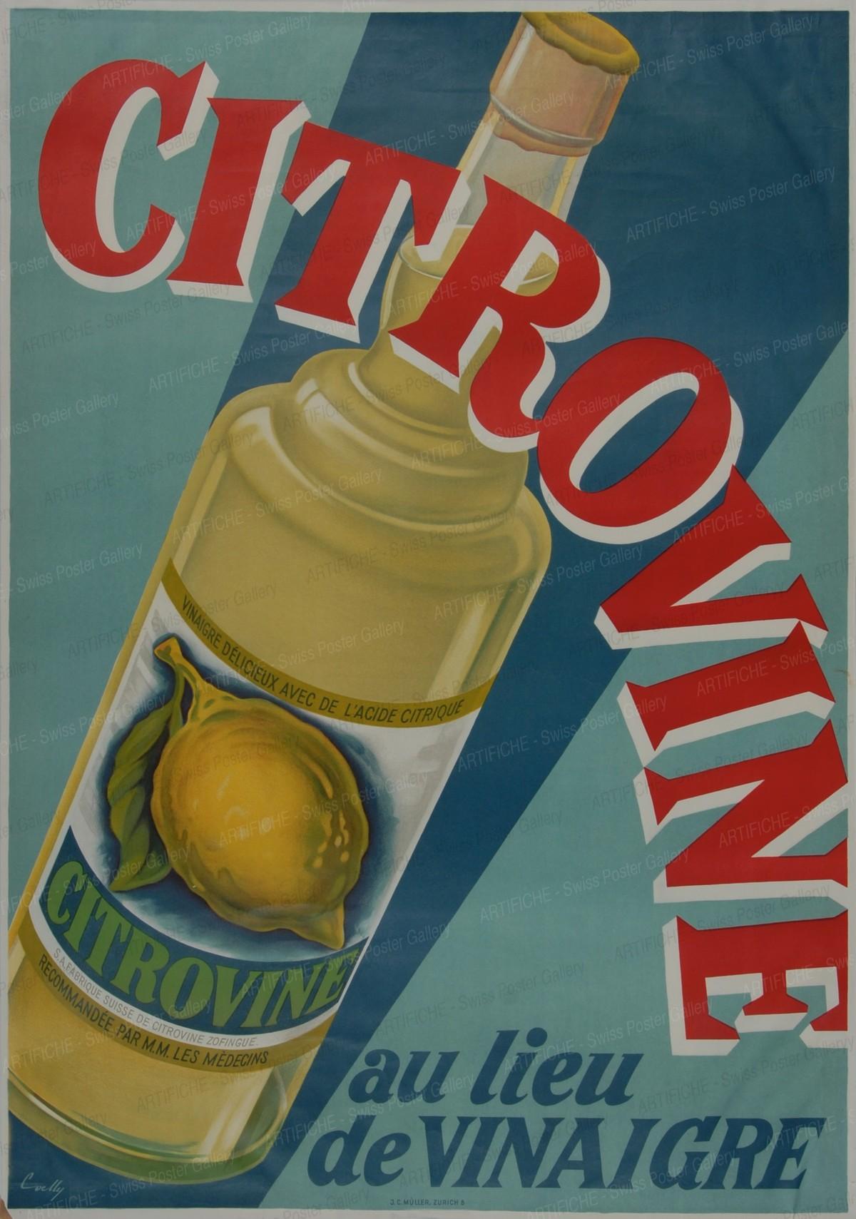 Citrovine instead of vinegar, Hermann Alfred Koelliker