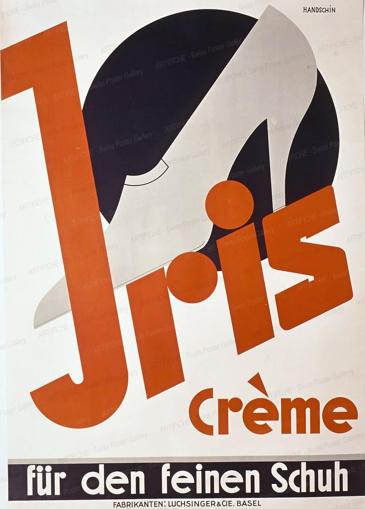 Jris Crème für den feinen Schuh – Fabrikant: Luchsinger & Cie. Basel, Johannes Handschin