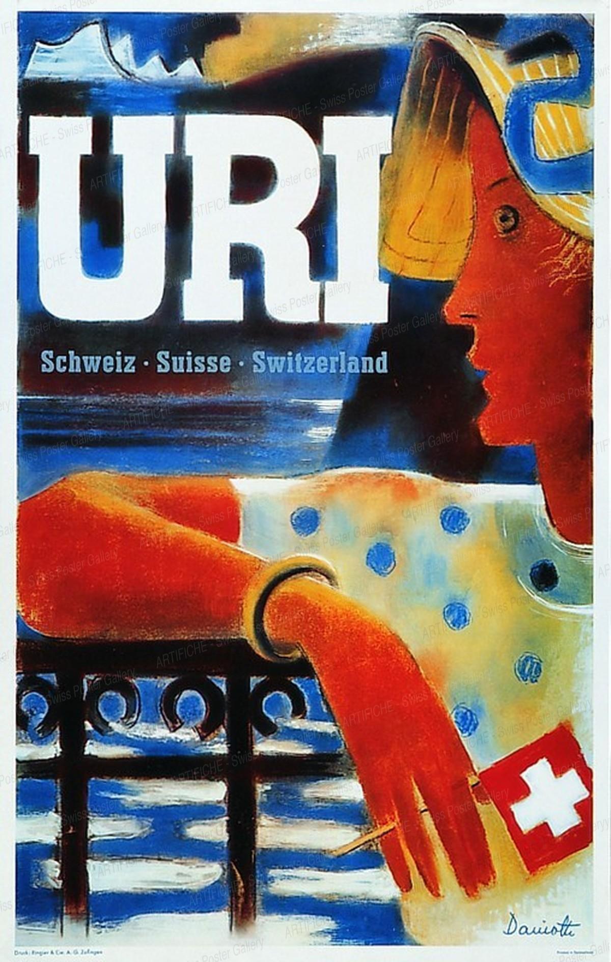 URI – Schweiz Suisse Switzerland, Heinrich Danioth