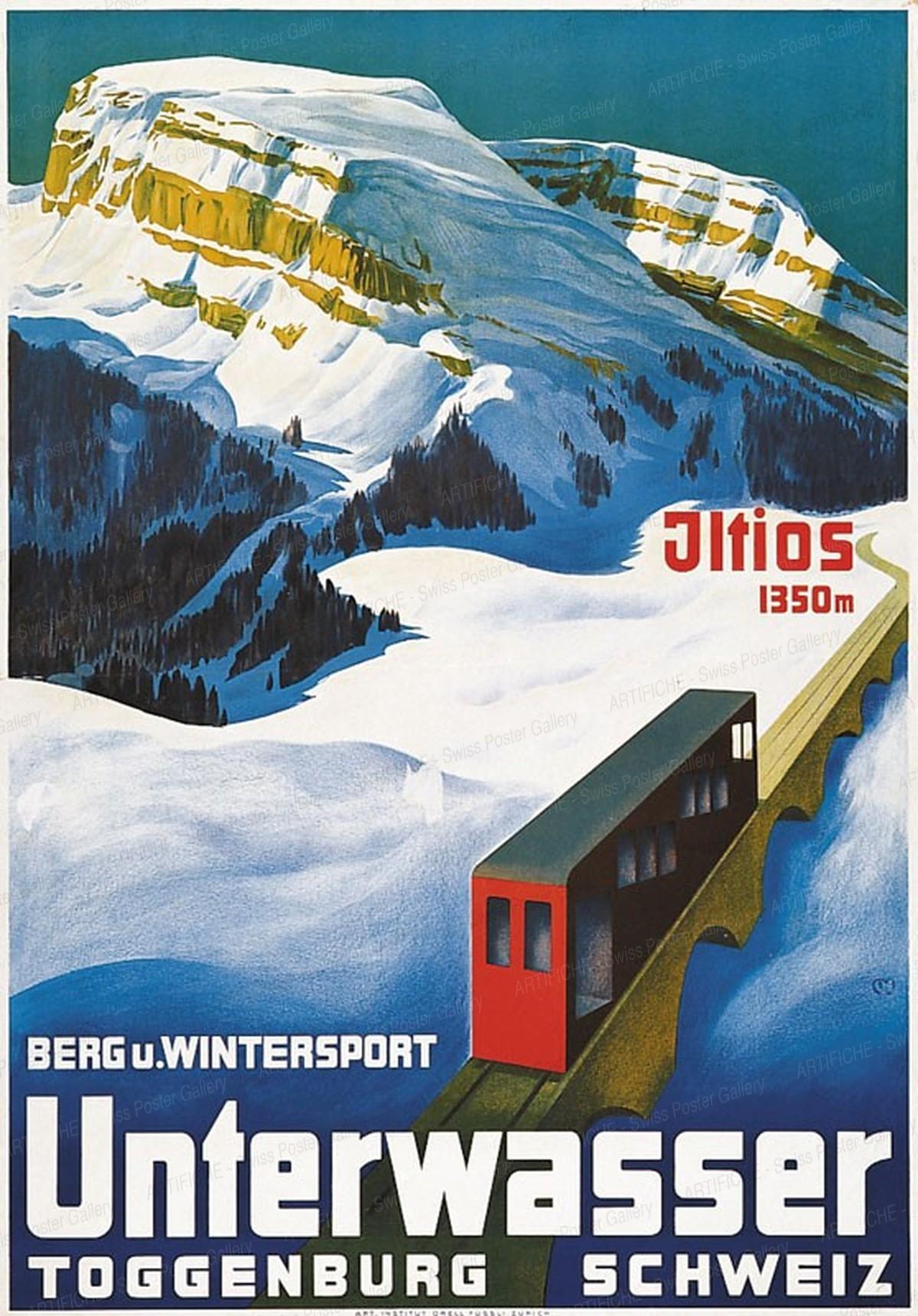 Unterwasser – Berg u. Wintersport – Toggenburg – Schweiz, Carl Franz Moos