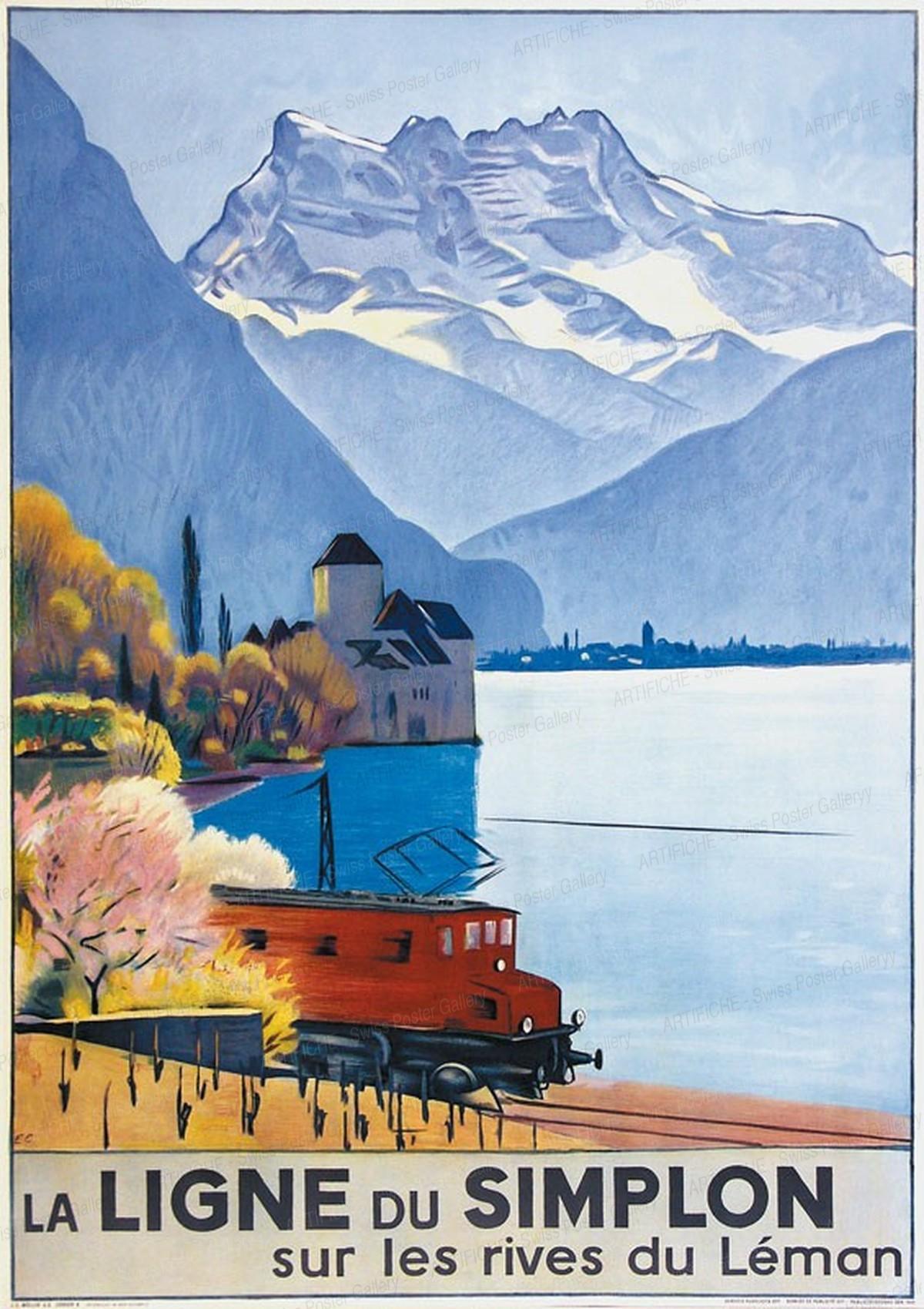 La Ligne du Simplon sur les rives du Léman, Emil Cardinaux
