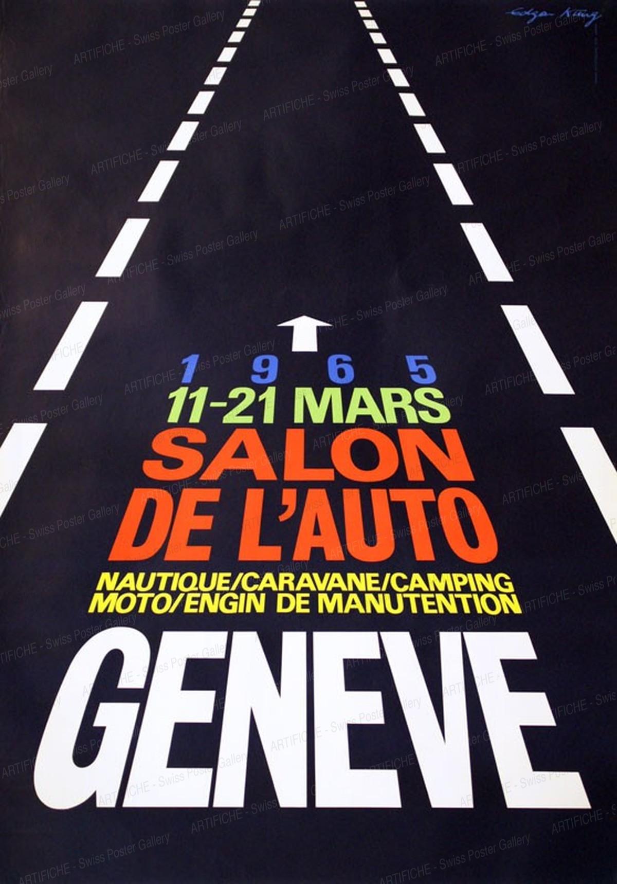 Salon de l'Auto – Nautique Caravane Camping Moto Engin de Manutention Genève 1965, Edgar Küng