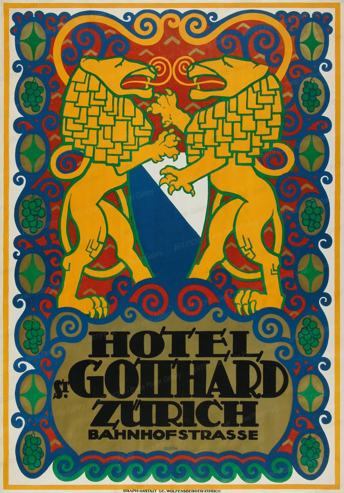 HOTEL ST. GOTTHARD ZURICH, Erwin Roth