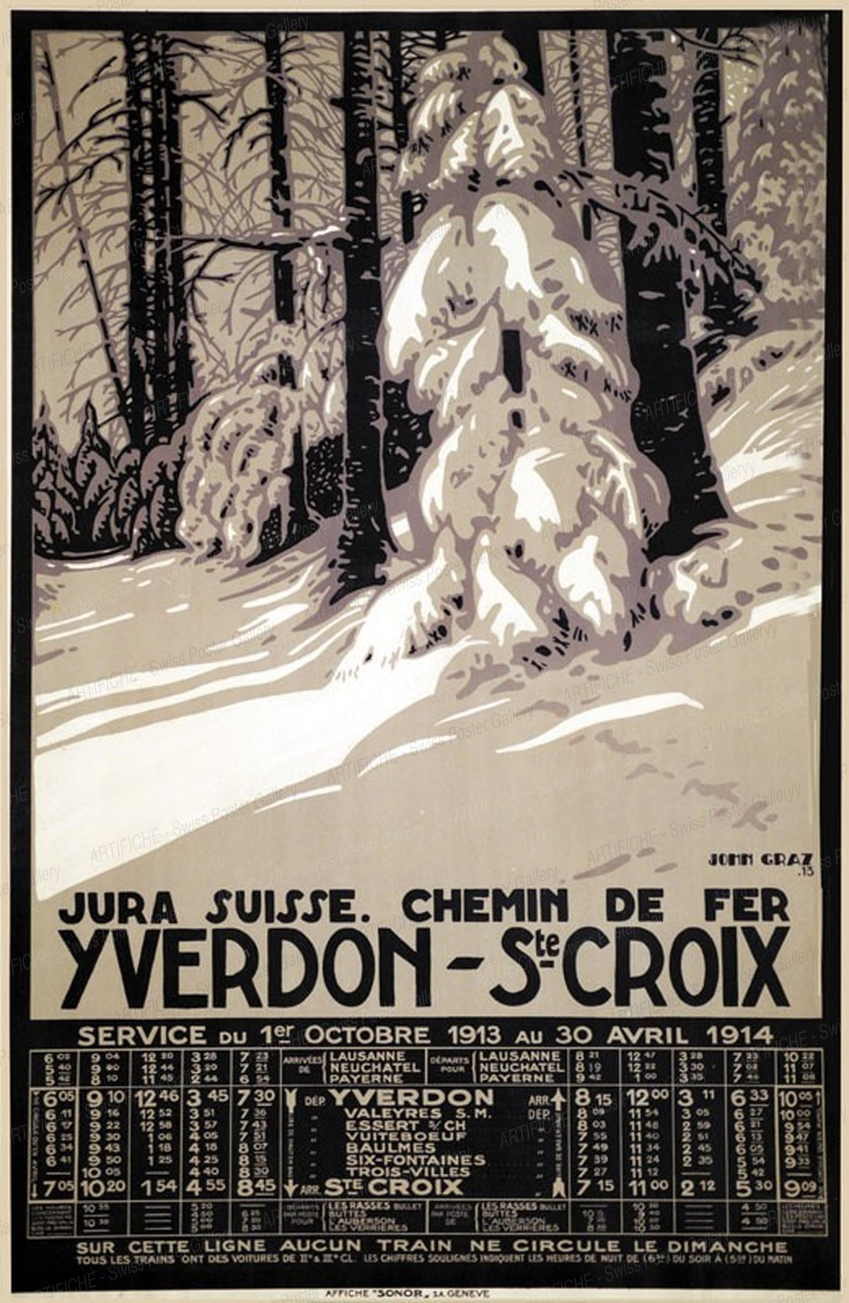 Yverdon-St. Croix, John Graz