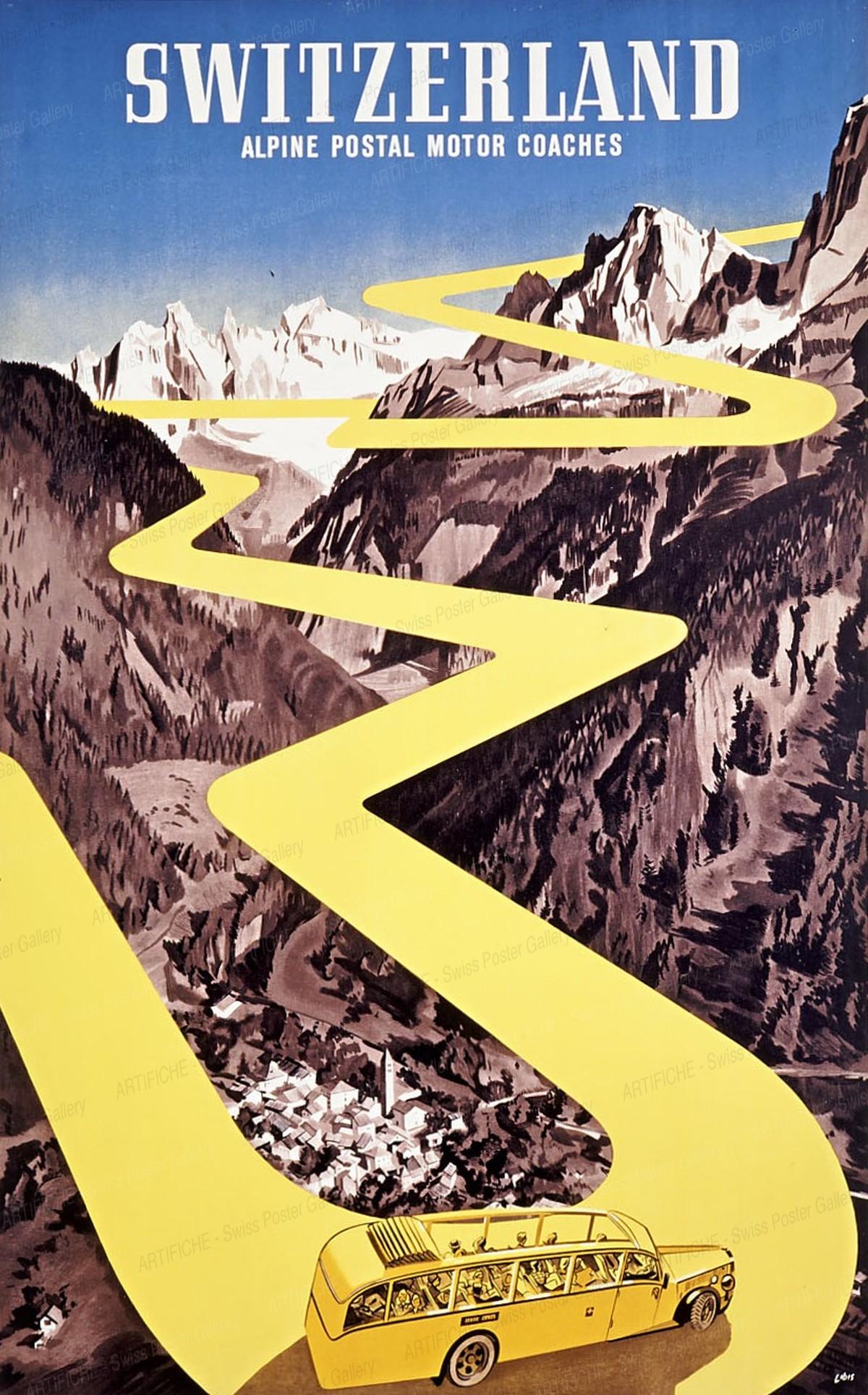 SWITZERLAND – Alpine Postal Motor Coaches, Herbert Berthold Libiszewski