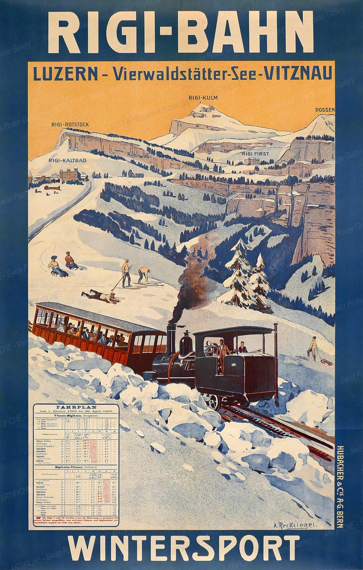 Rigi-Bahn – Wintersport, Anton Reckziegel
