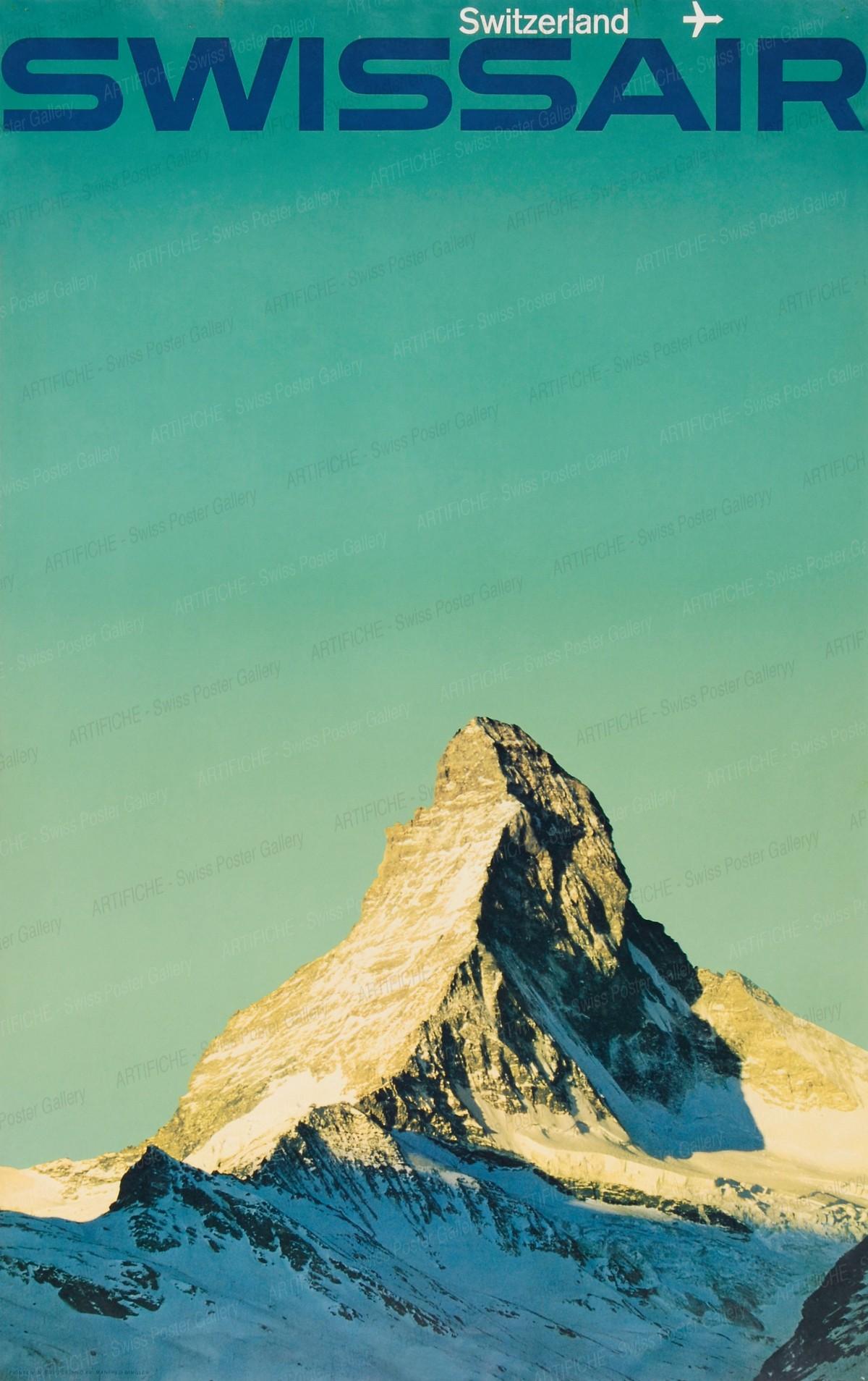 Swissair (Zermatt, Matterhorn), Manfred Bingler