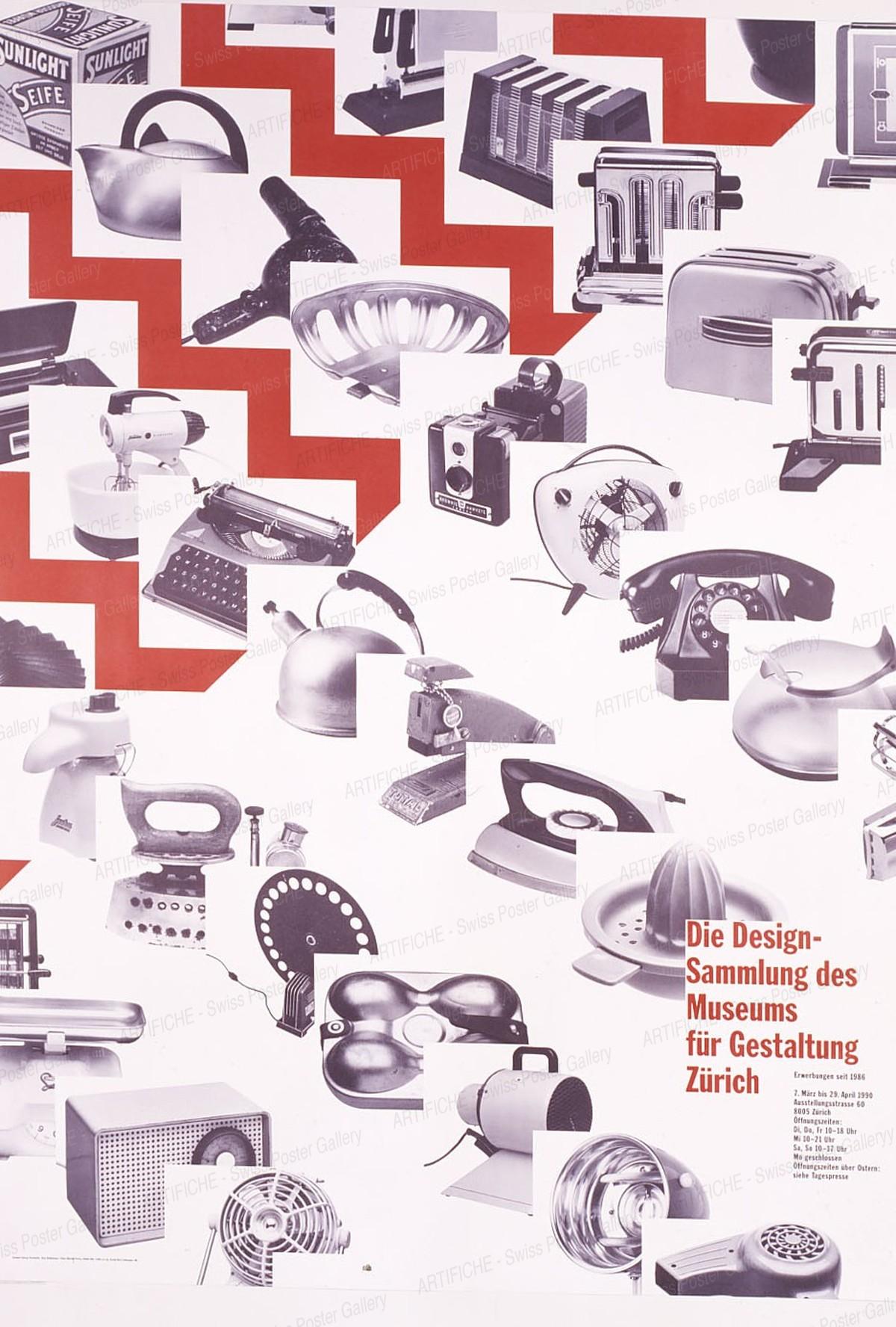 Museum für Gestaltung Zürich – Design Sammlung des Museums für Gestaltung, Hamburger, Jörg (*1935) / Staehelin, Georg (*1942)
