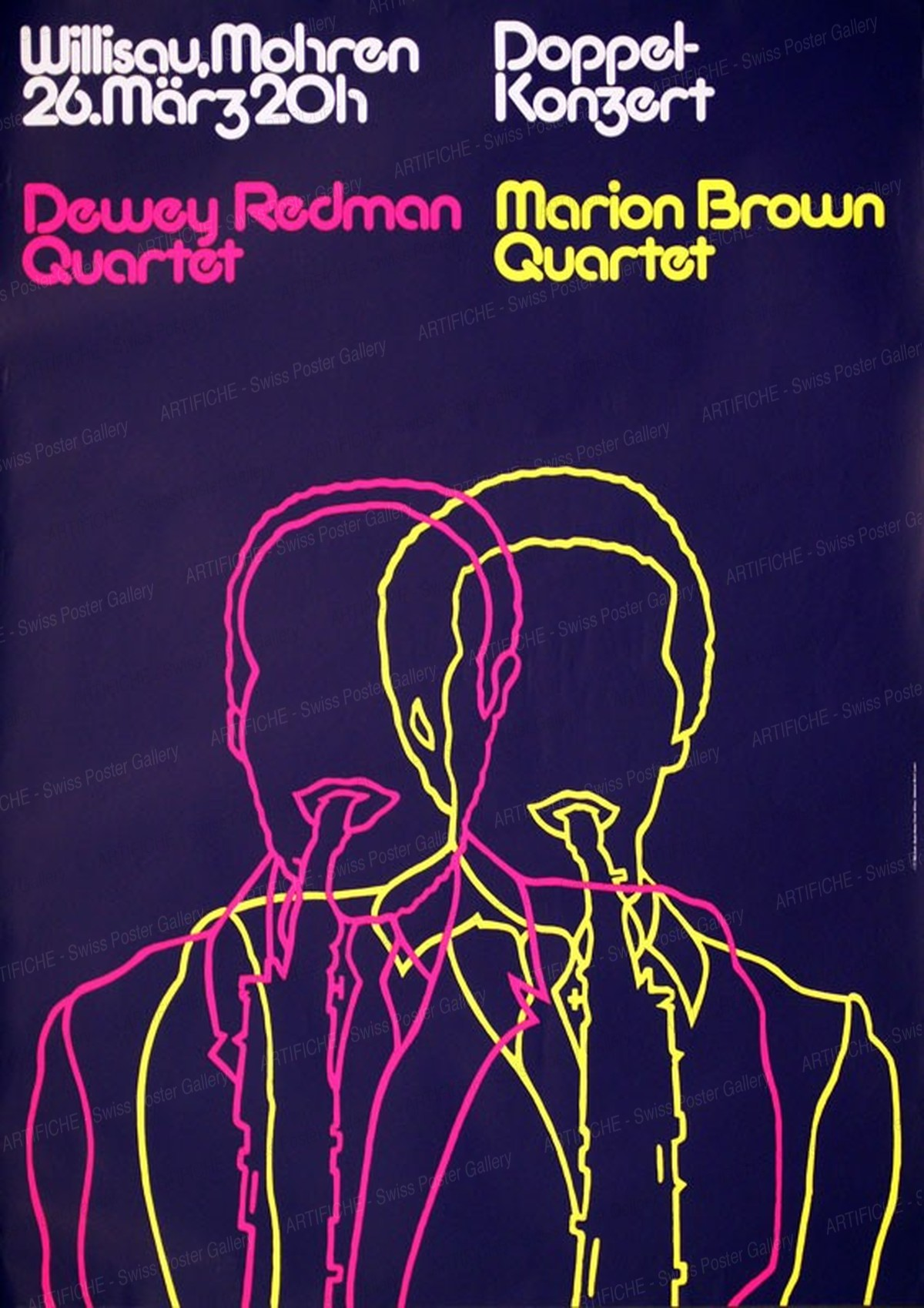 Jazz Willisau – Dewey Redman / Marion Brown, Niklaus Troxler