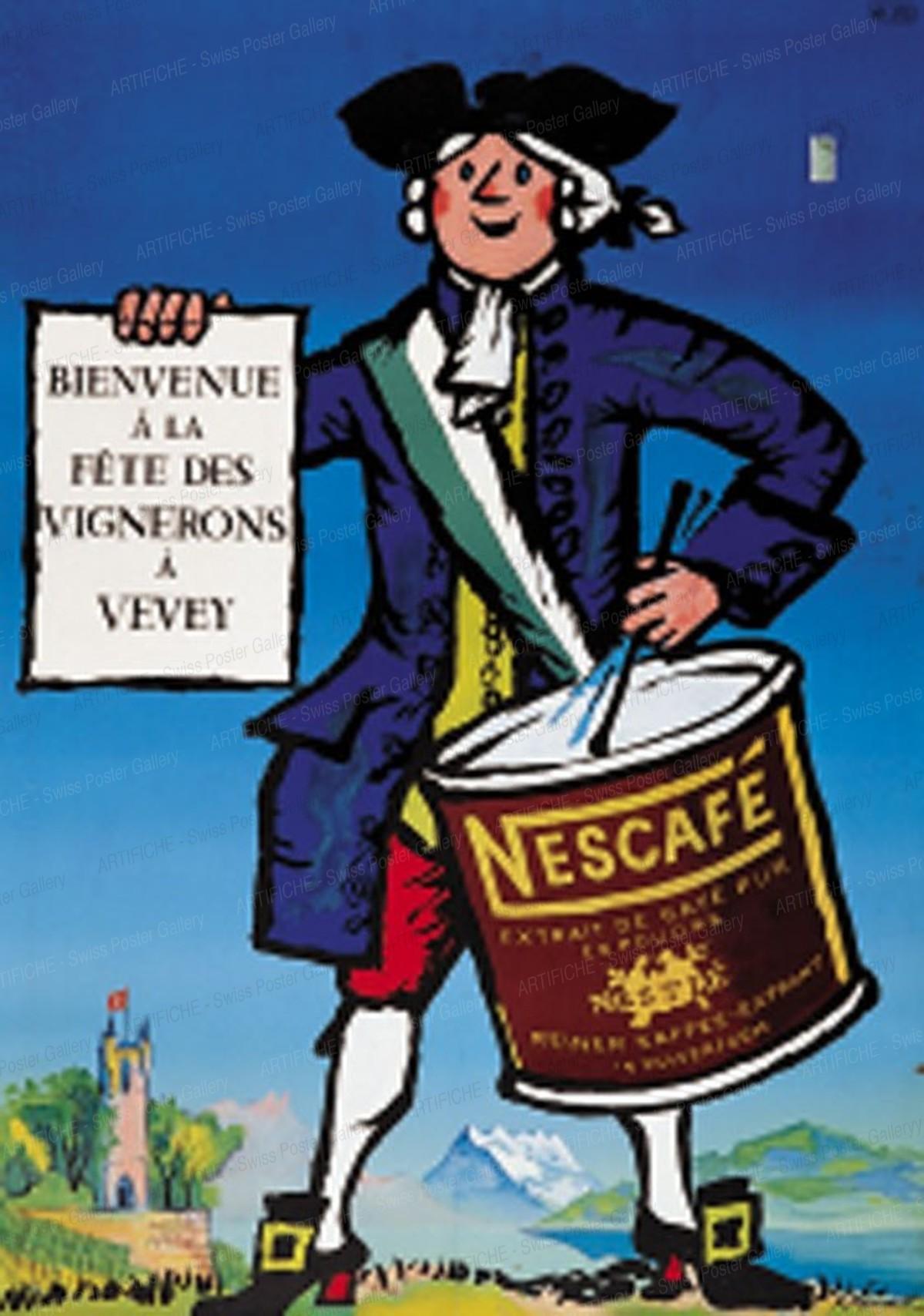 Bienvenue à la Fête des Vignerons à Vevey – Nescafé, Pierre Monnerat