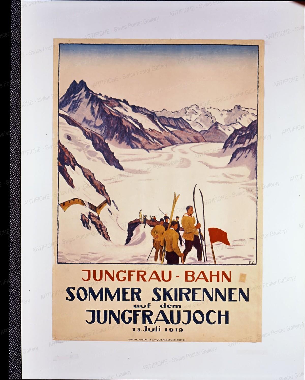 Summer Ski Race on the Jungfraujoch, Emil Cardinaux
