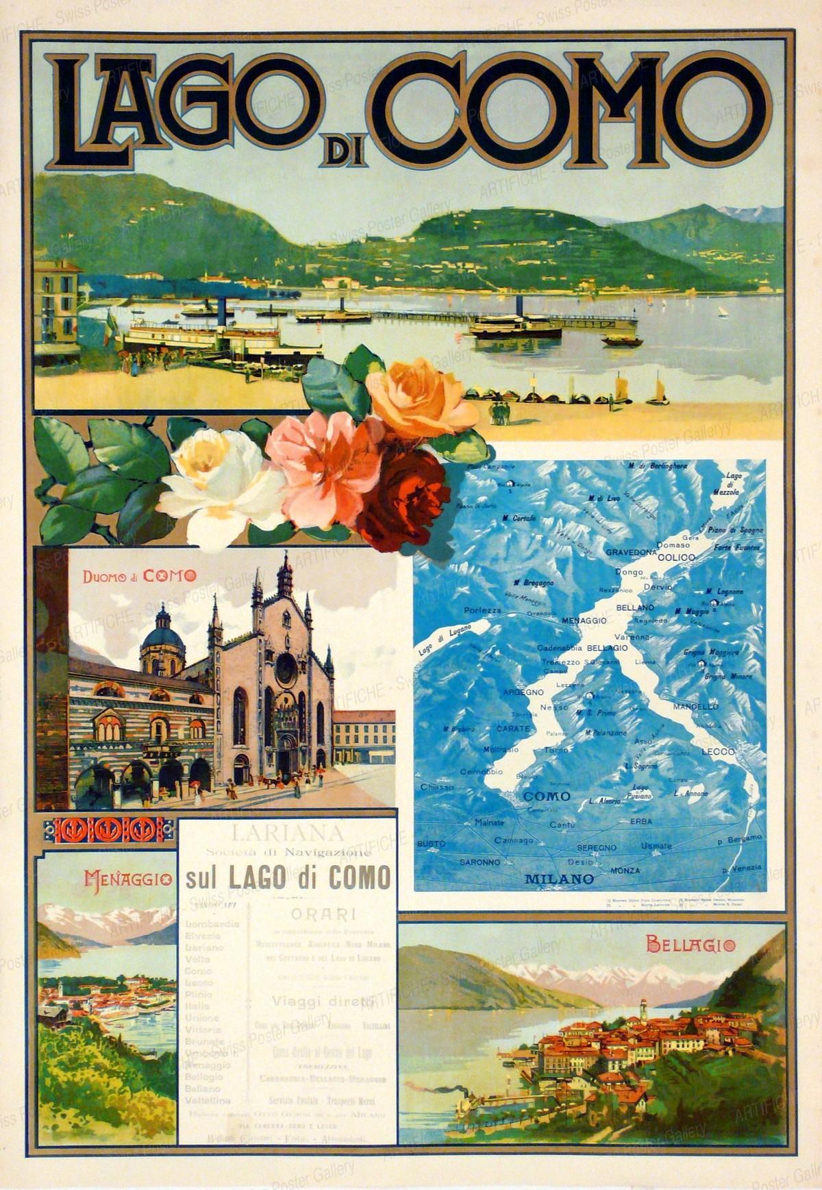 LAGO DI COMO – Lariana sul Lago di Como, Artist unknown