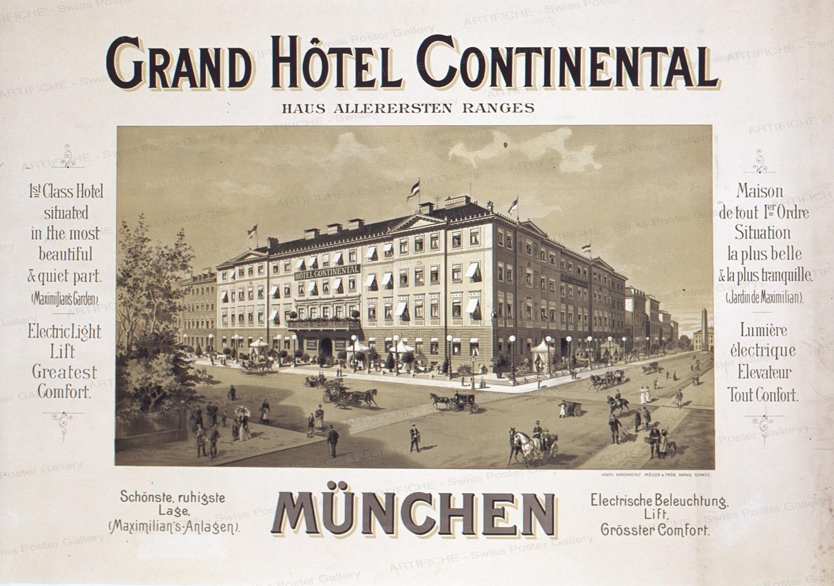 Grand Hôtel Continental, München, Artist unknown