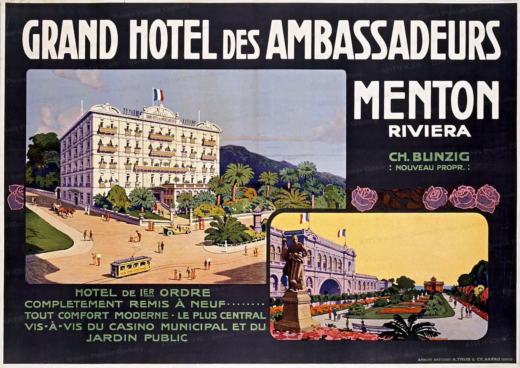 GRAND HÔTEL des AMBASSADEURS – Menton Riviera, Artist unknown