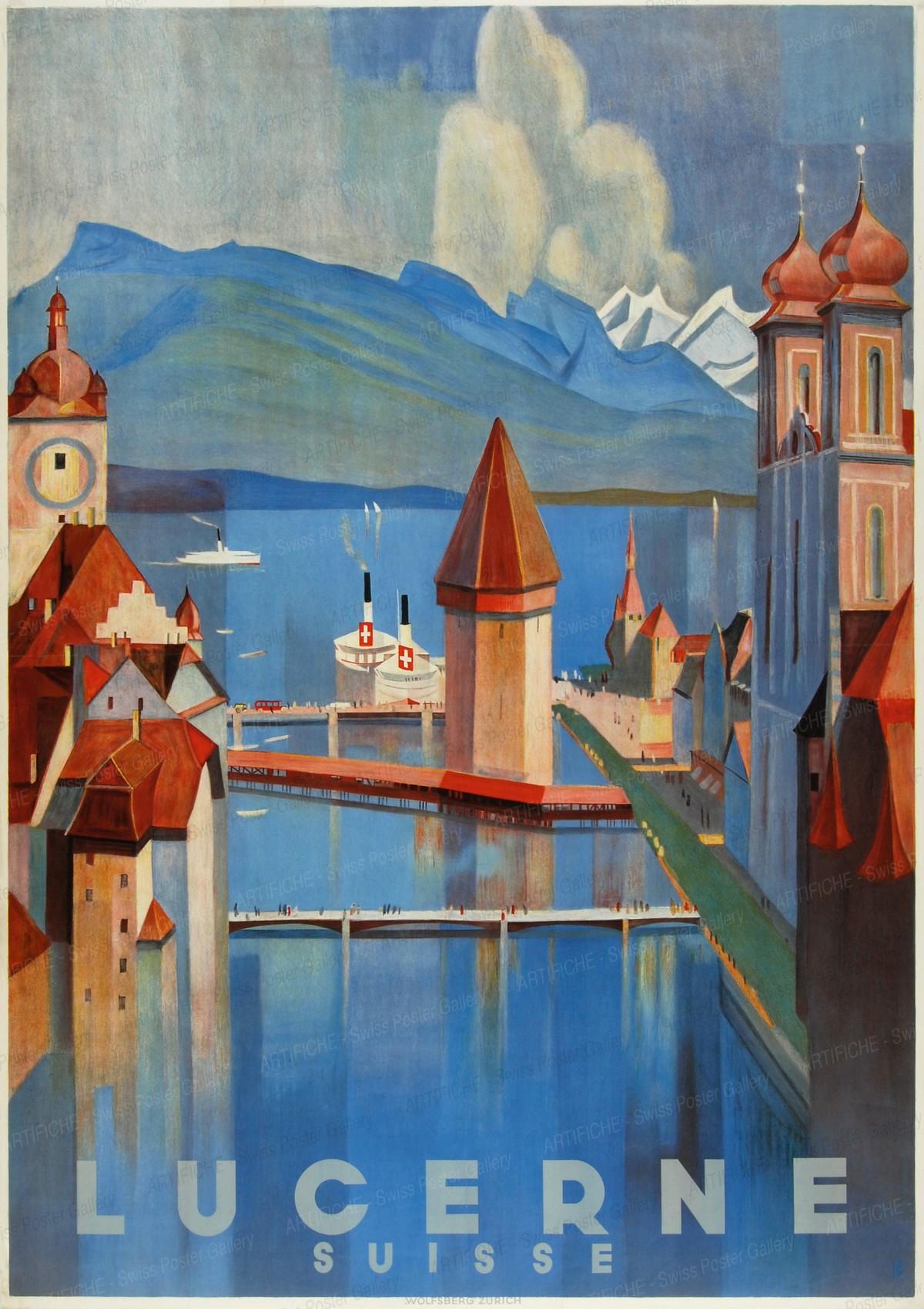 LUCERNE SUISSE, Otto Baumberger