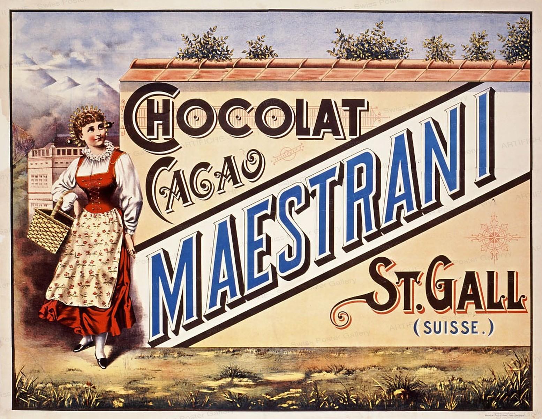 Maestrani – Chocolat – Cacao St. Gall, Artist unknown