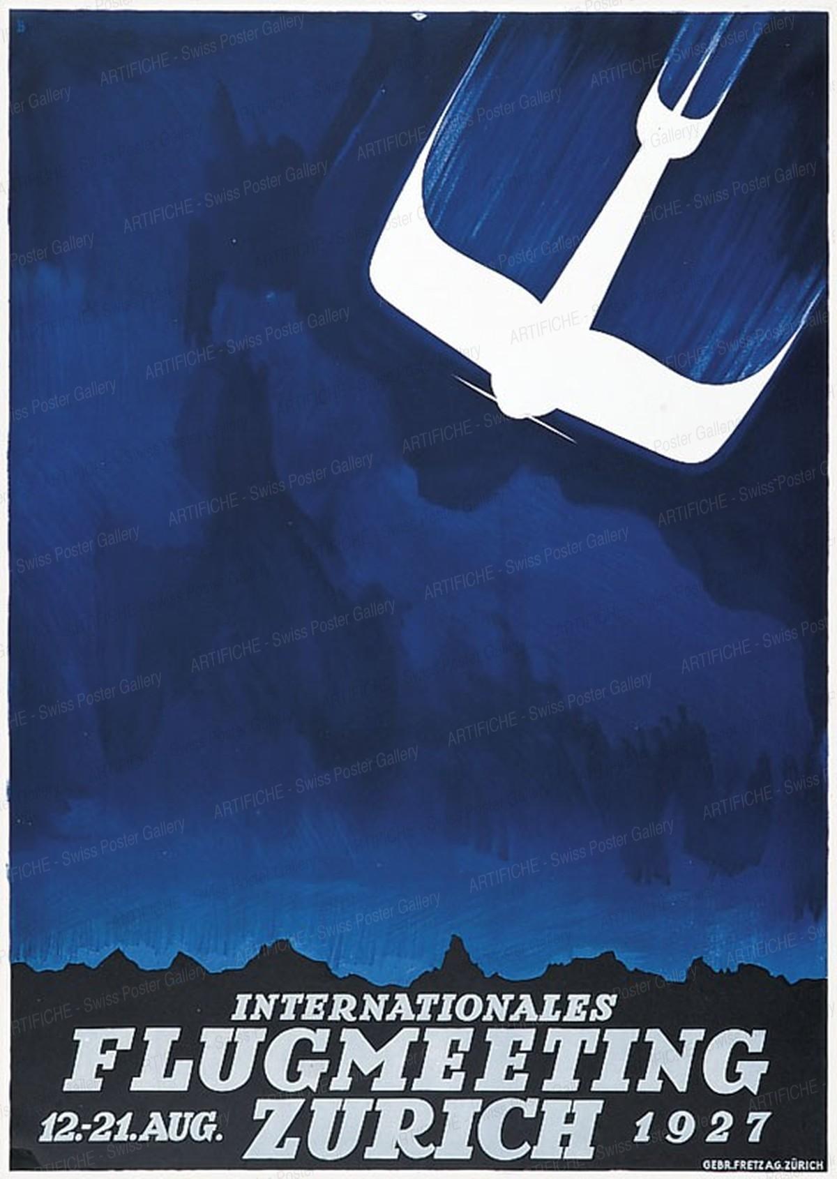 Internationales Flugmeeting Zürich – 12.-21. Aug. 1927, Otto Baumberger