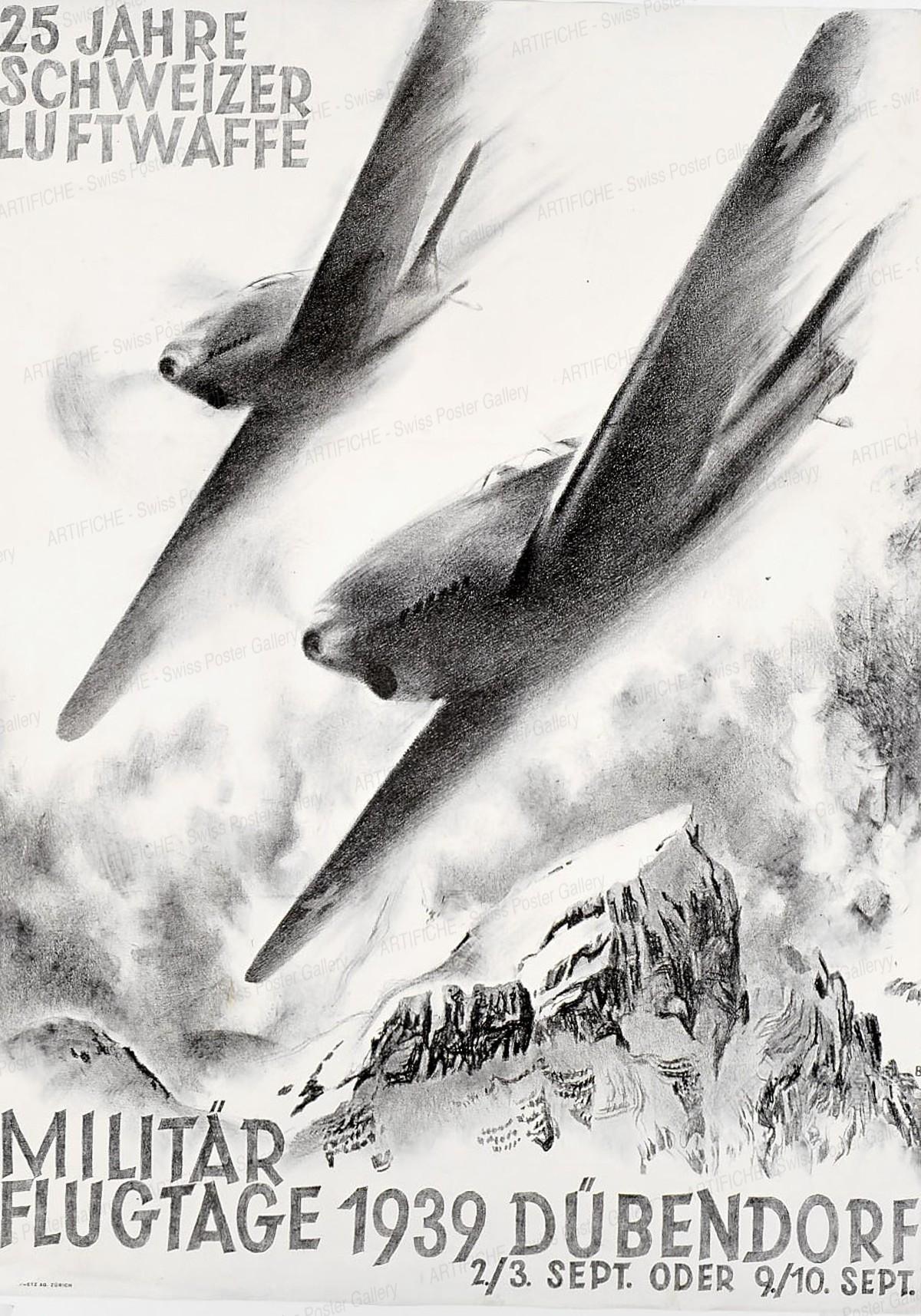 25 Jahre Schweizer Luftwaffe – Militärflugtage 1939 Dübendorf – 2./3. September oder 9./10. September 1939, Otto Baumberger