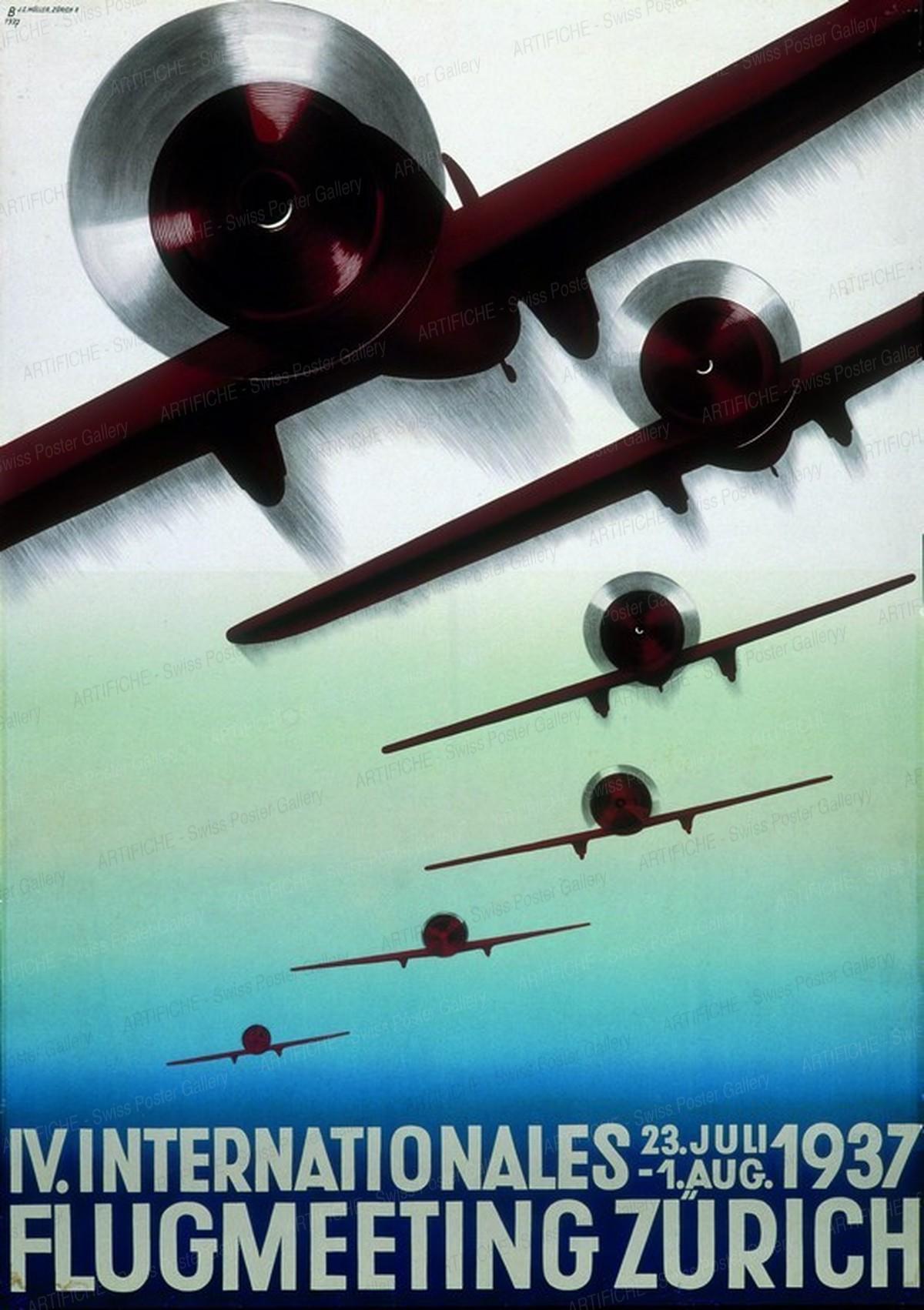 IV. INTERNATIONALES FLUGMEETING ZÜRICH 1937, Otto Baumberger