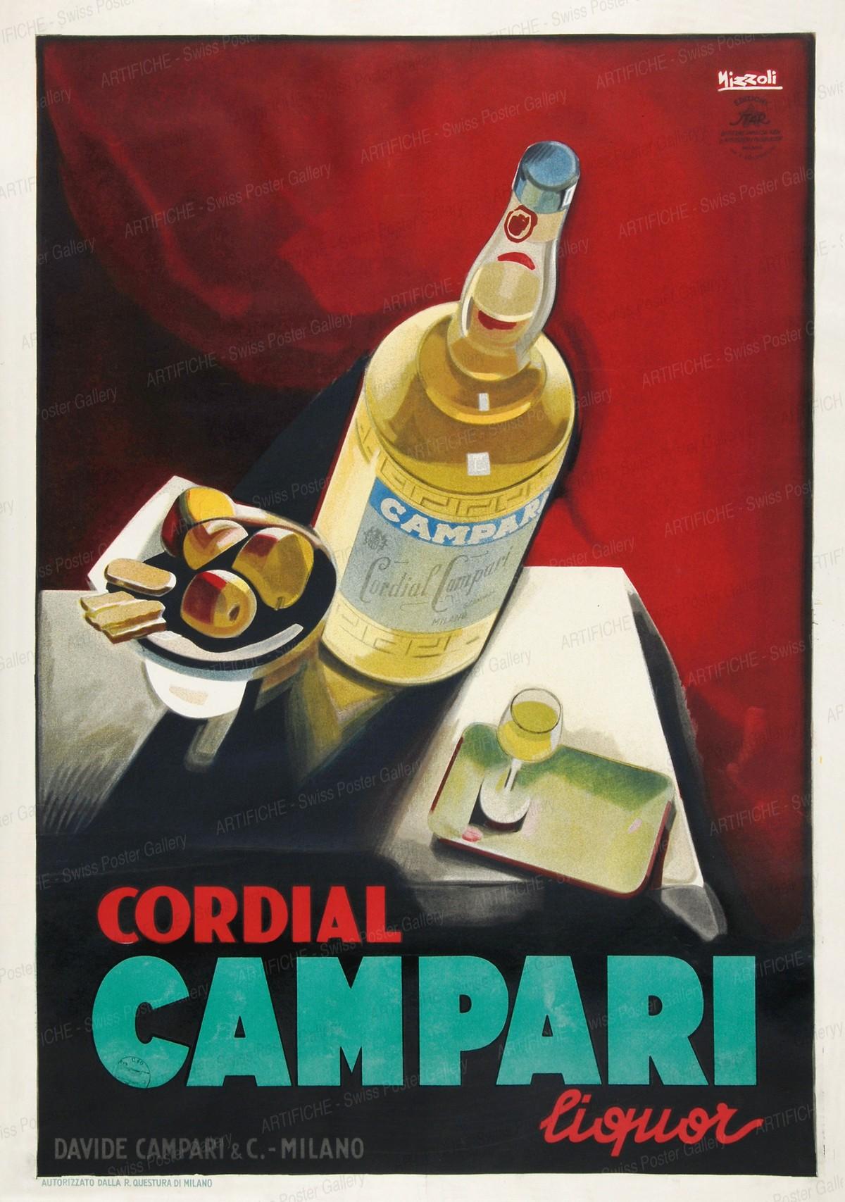 Cordial CAMPARI Liquor, Marcello Nizzoli