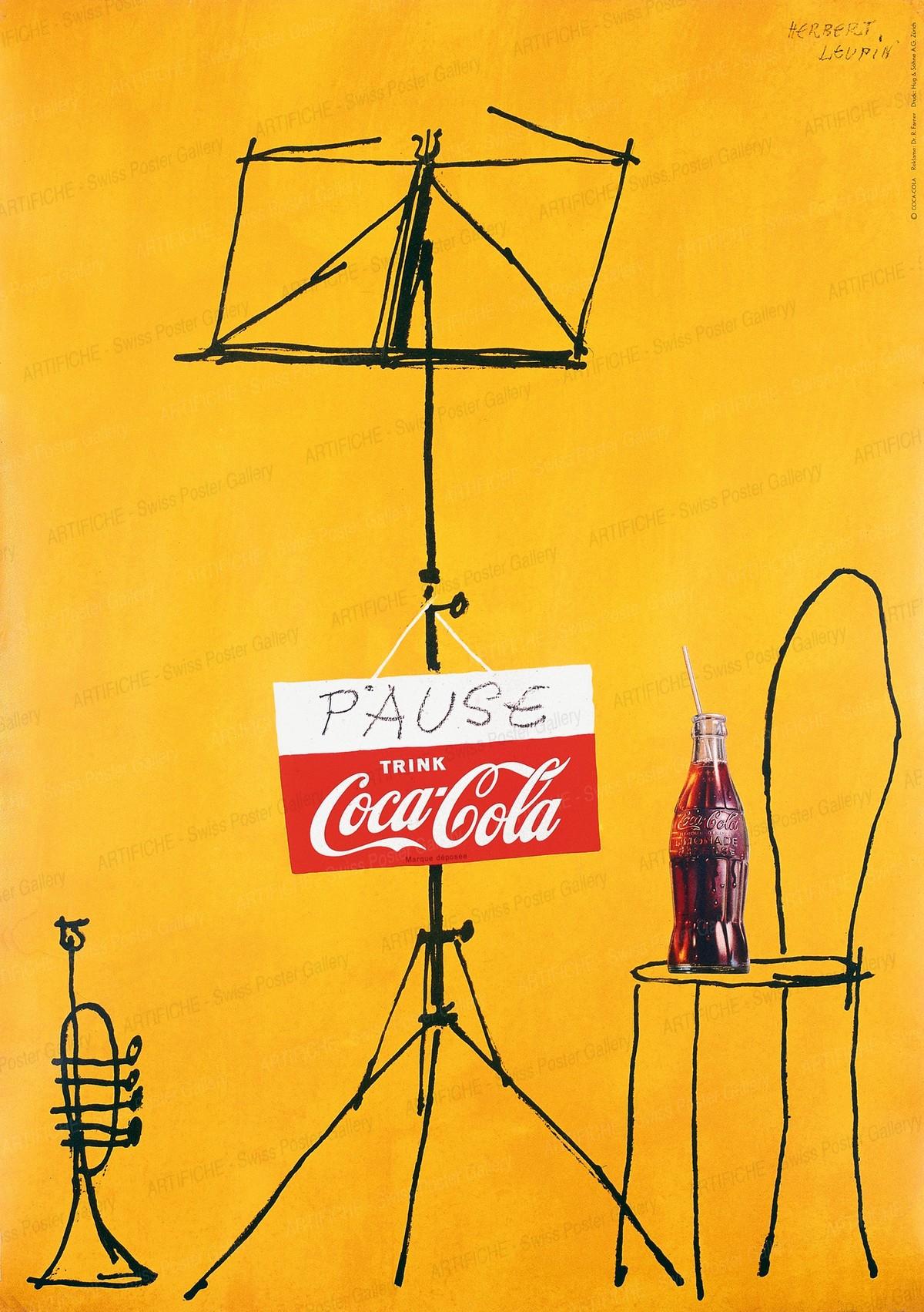 PAUSE trink Coca Cola, Herbert Leupin