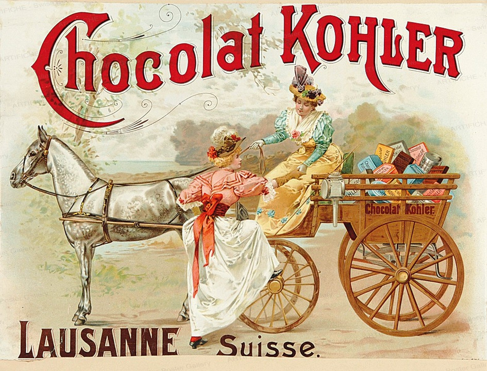 Chocolat Kohler Lausanne Suisse, Artist unknown