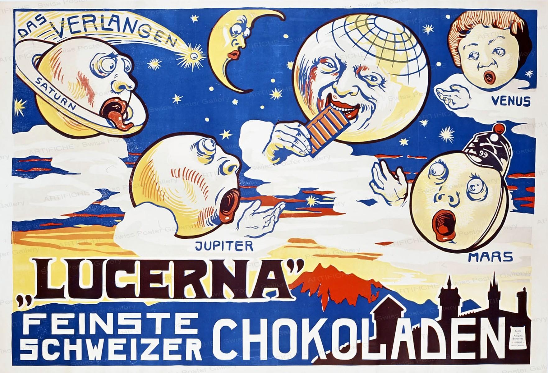 Lucerna – Feinste Schweizer Chokoladen, Artist unknown