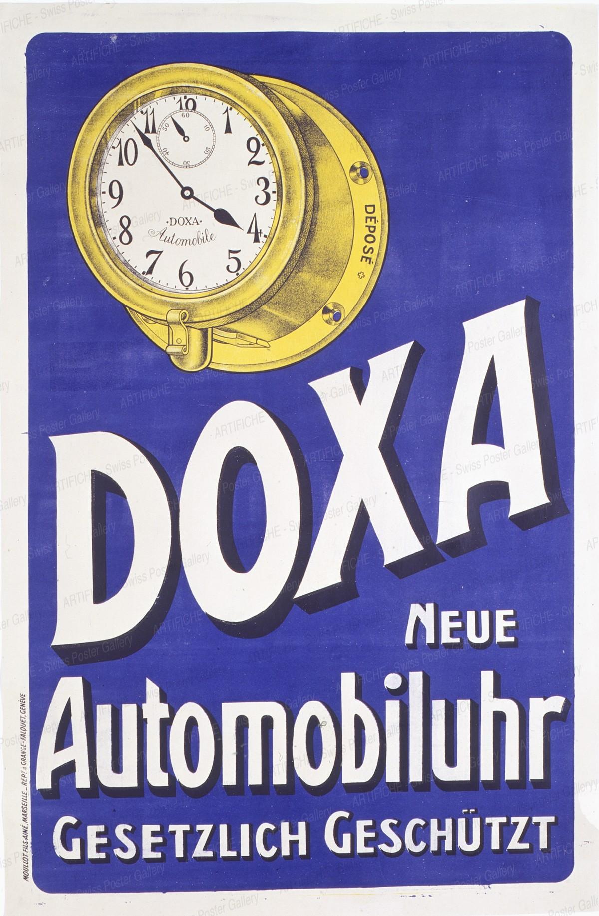 DOXA – Die neue Automobiluhr – gesetzlich geschützt, Artist unknown