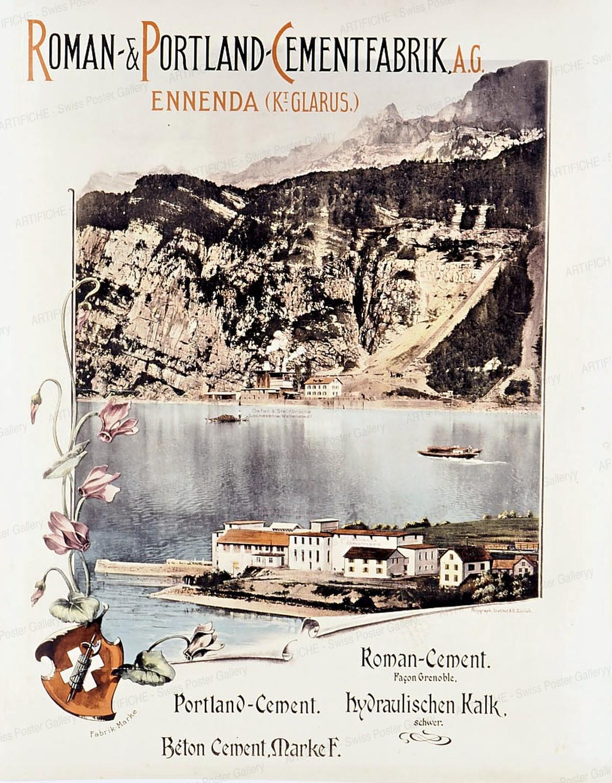 ROMAN & PORTLAND CEMENTFABRIK AG Ennenda (Kt. Glarus), Artist unknown