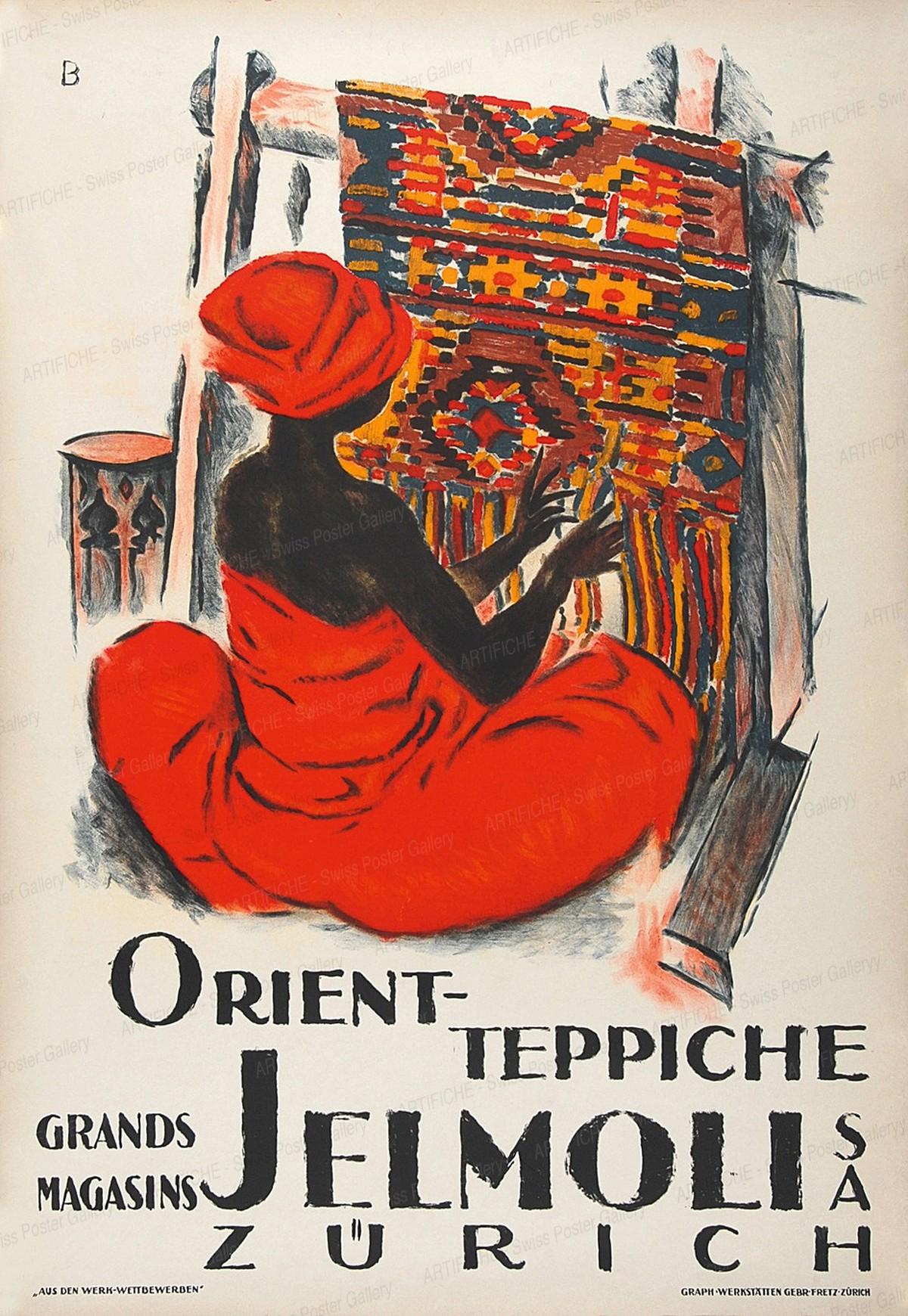 Orient-Teppiche – Grands Magasins Jelmoli SA Zürich, Otto Baumberger