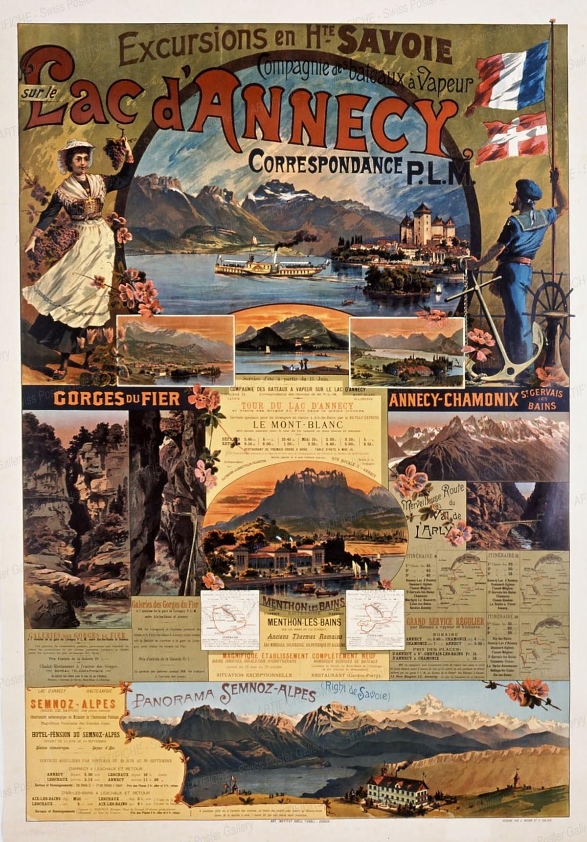 Excurstion en Haute-Savoie – Tour du Lac d'Annecy, Mont-Blanc – Annecy-Chamonix – Panorama Semnoz-Alpes, Weber, J. / Balzer, P.
