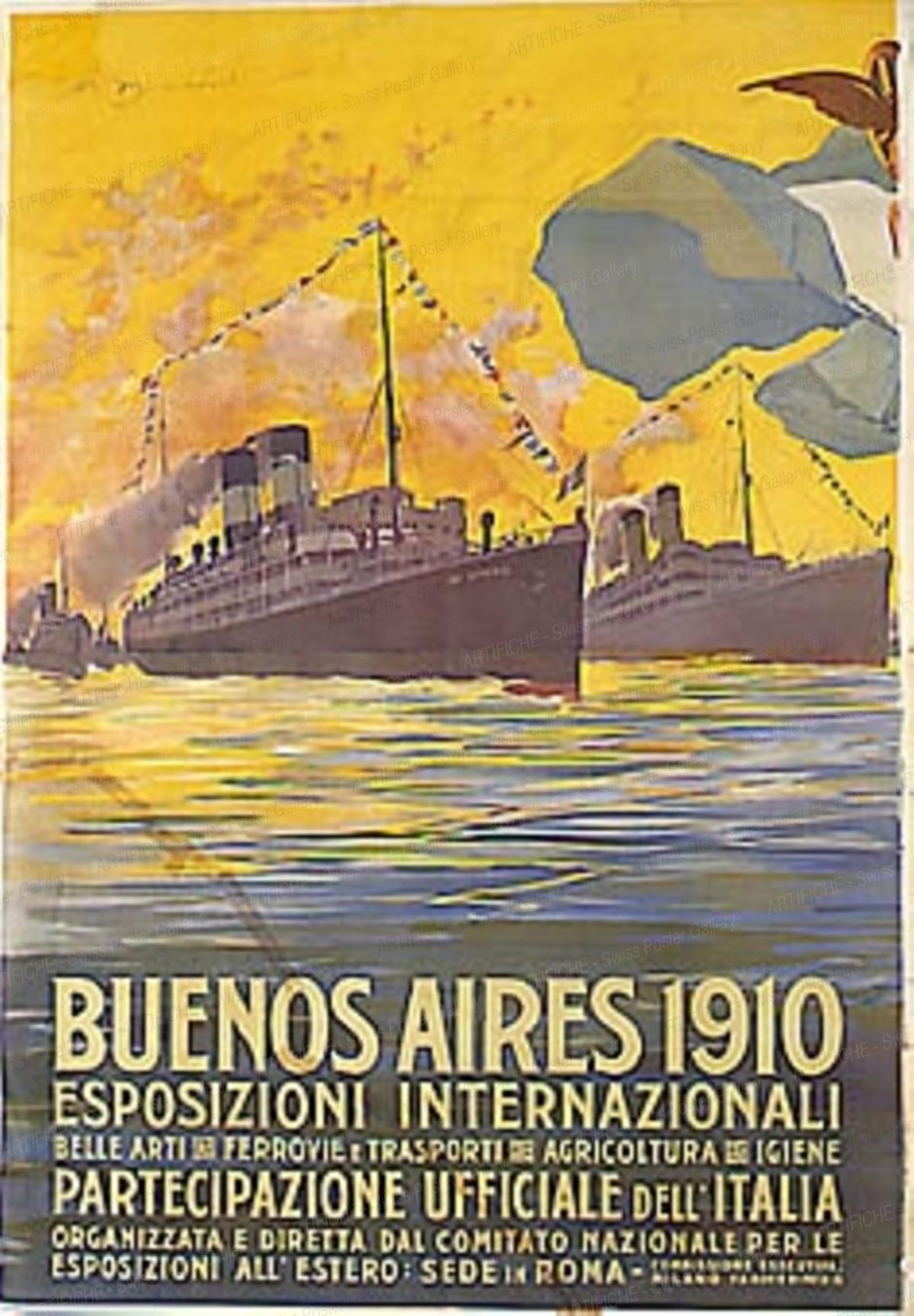 Buenos Aires – 1910 – Esposizioni Internat., Artist unknown