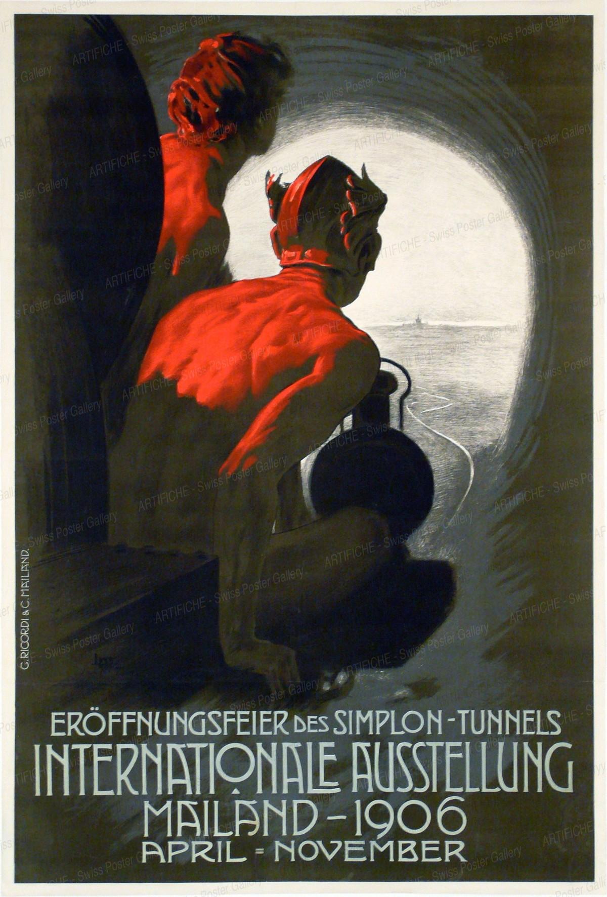 Eröffnungsfeier des Simplon-Tunnels – Internationale Ausstellung Mailand 1906, Leopoldo Metlikovitz