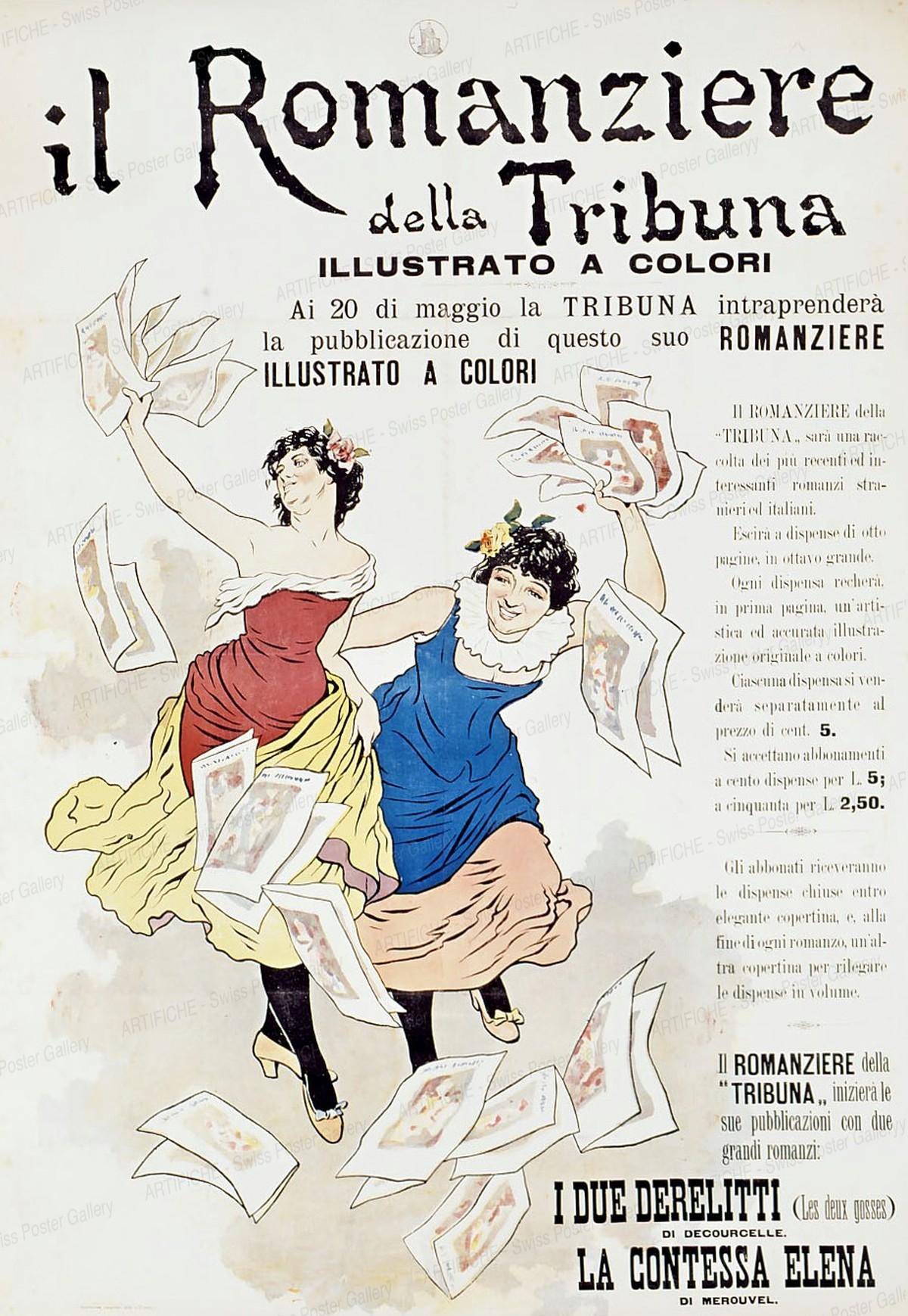 Il Romanziere della Tribuna, Illustrato a Colori, Artist unknown