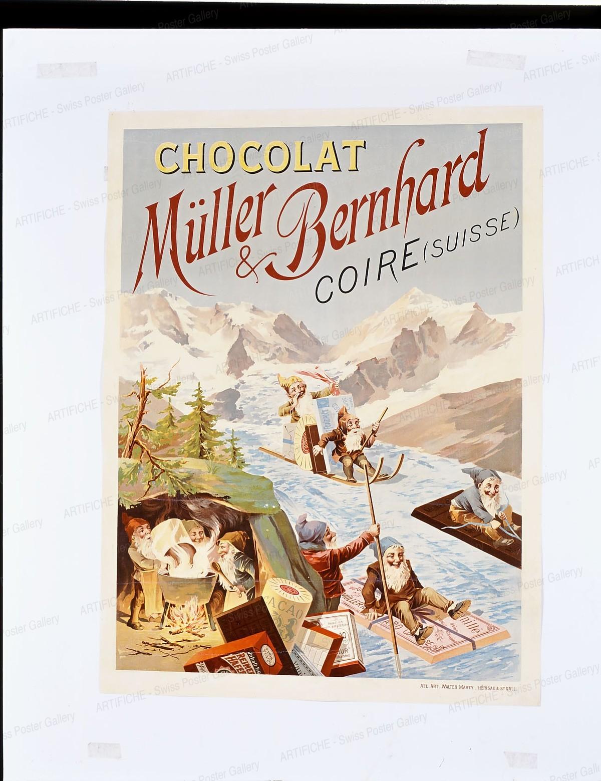 Chocolat Müller & Bernhard Coire Suisse, Walter Marty