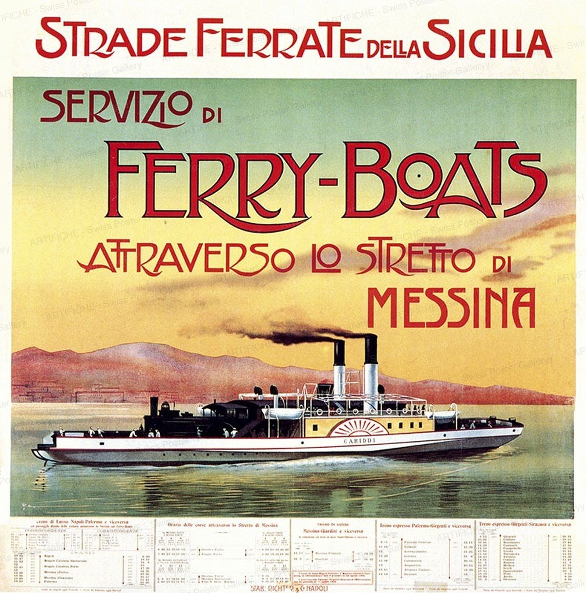Ferry-Boats Messina, Artist unknown