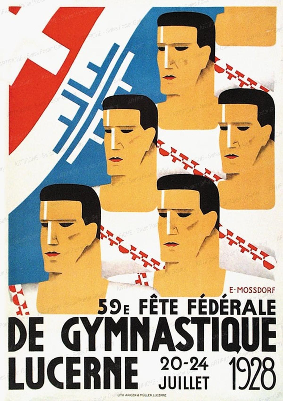 59e Fête Fédérale de Gymnastique Lucerne 20 – 24 Juillet 1928, Ernst Gustav Mossdorf