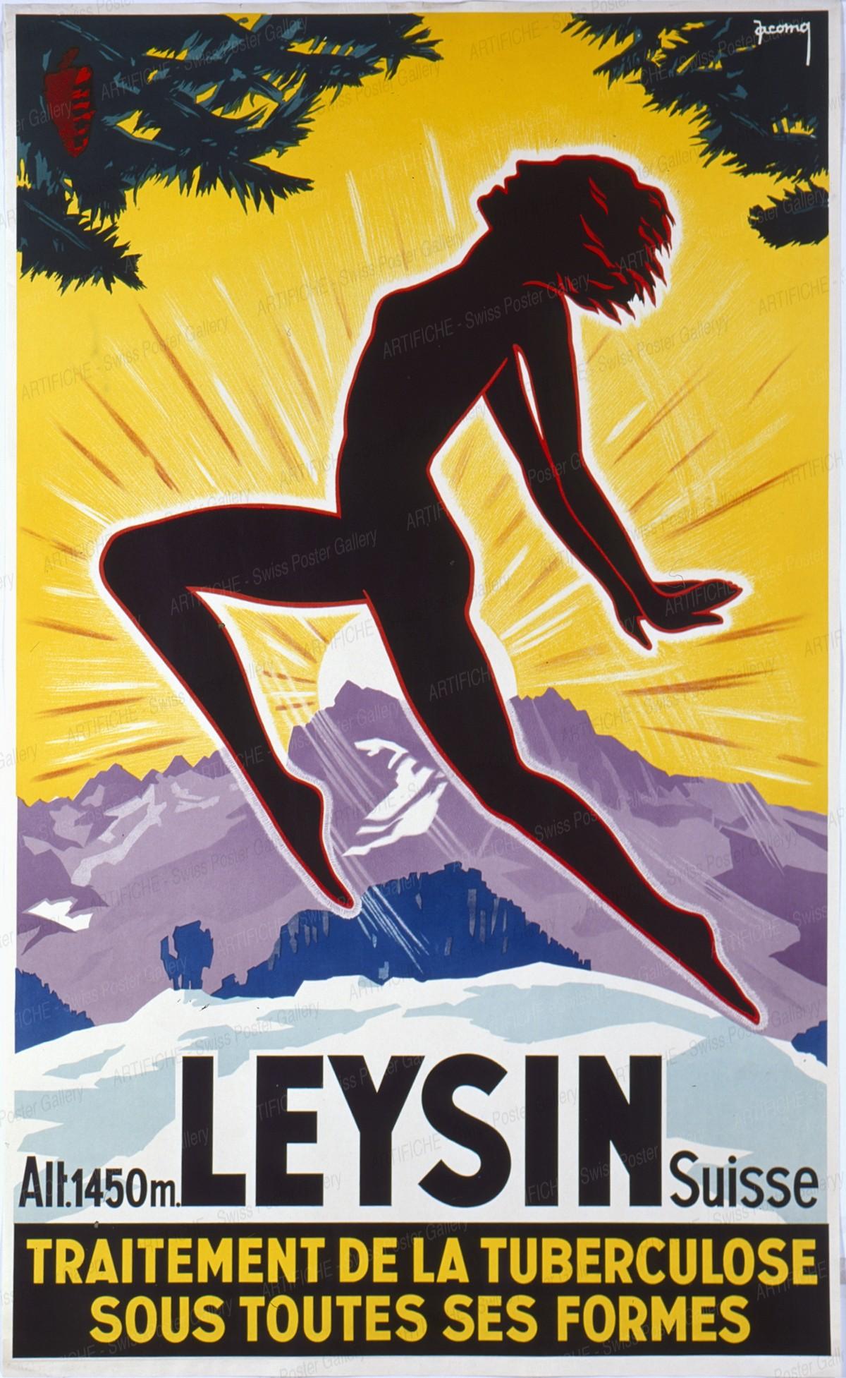 LEYSIN – Traitement de la Tuberculose sous toutes ses formes – Alt. 1450 m – Suisse, Jacomo Muller