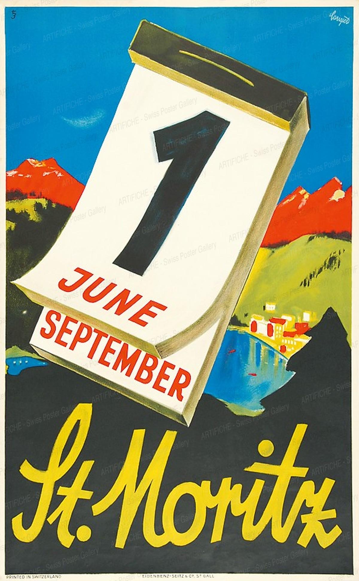 St. Moritz – 1 June – September, Alois Carigiet