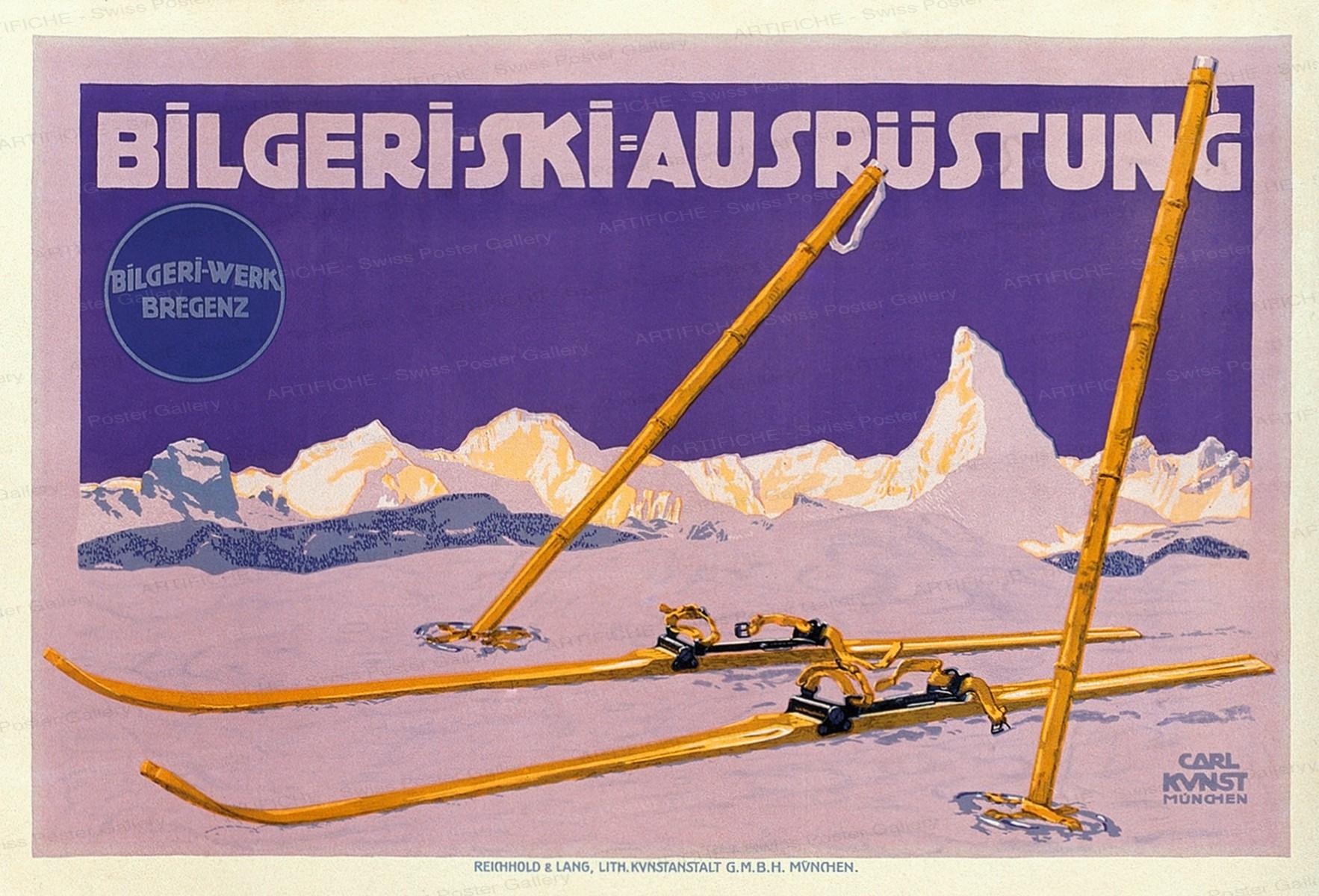 Bilgeri Skiausrüstung, Carl Kunst
