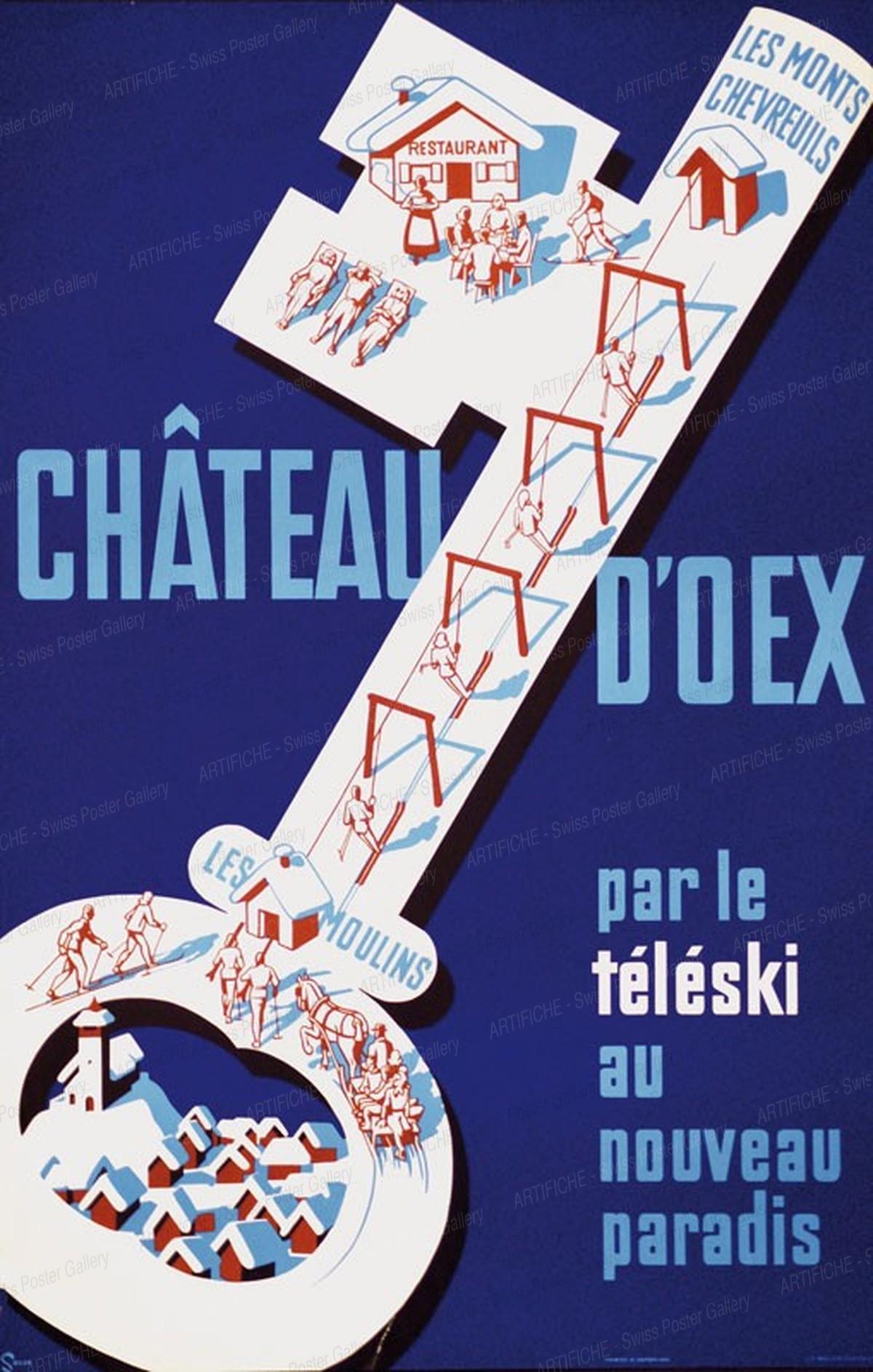 CHÂTEAU D'OEX – par le téléski au nouveau paradis – Les Moulins – Les Monts Chevreuils, Seiler